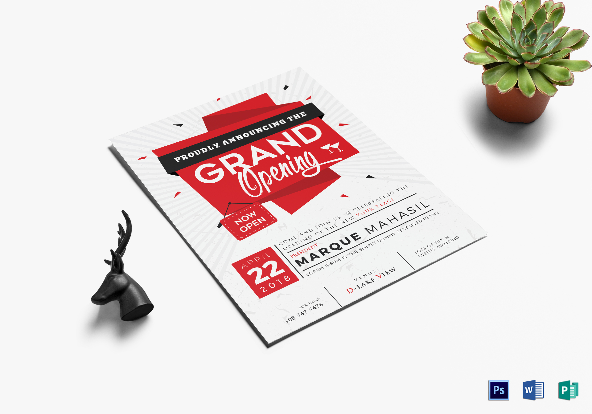 grand opening flyer design template in word psd publisher illustrator