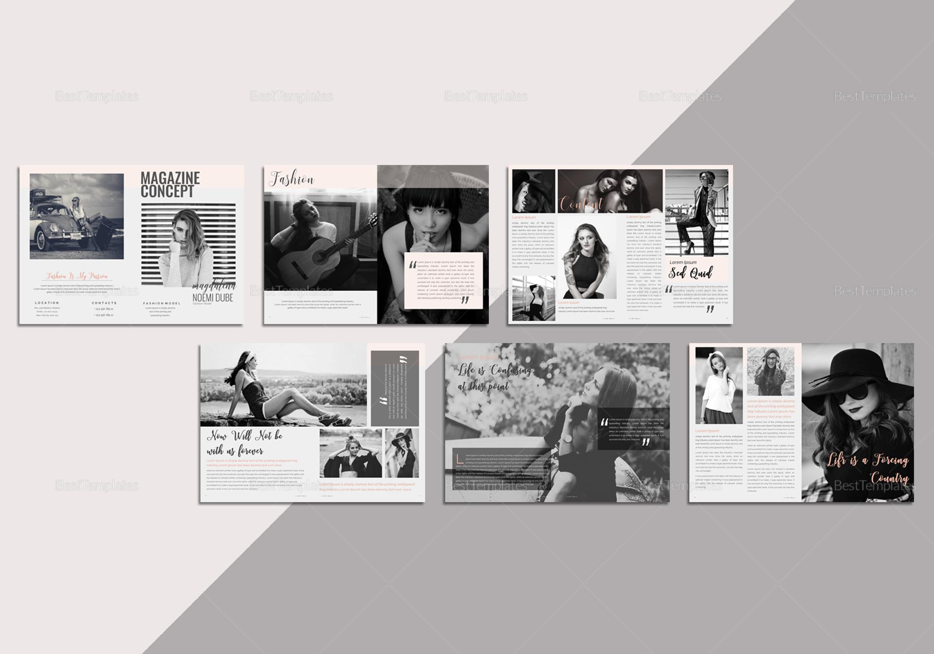 Fabulous Fashion Magazine Template