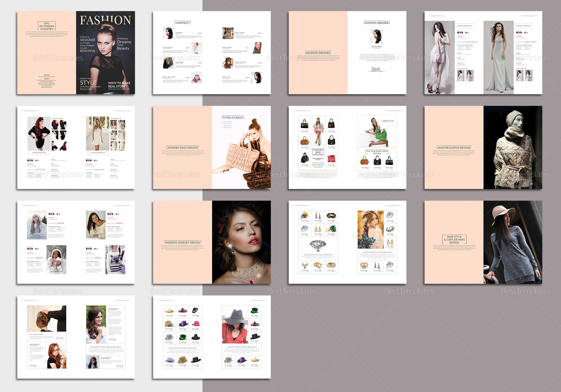 28 Pages Fashion Magazine Template In Psd Word Publisher Indesign