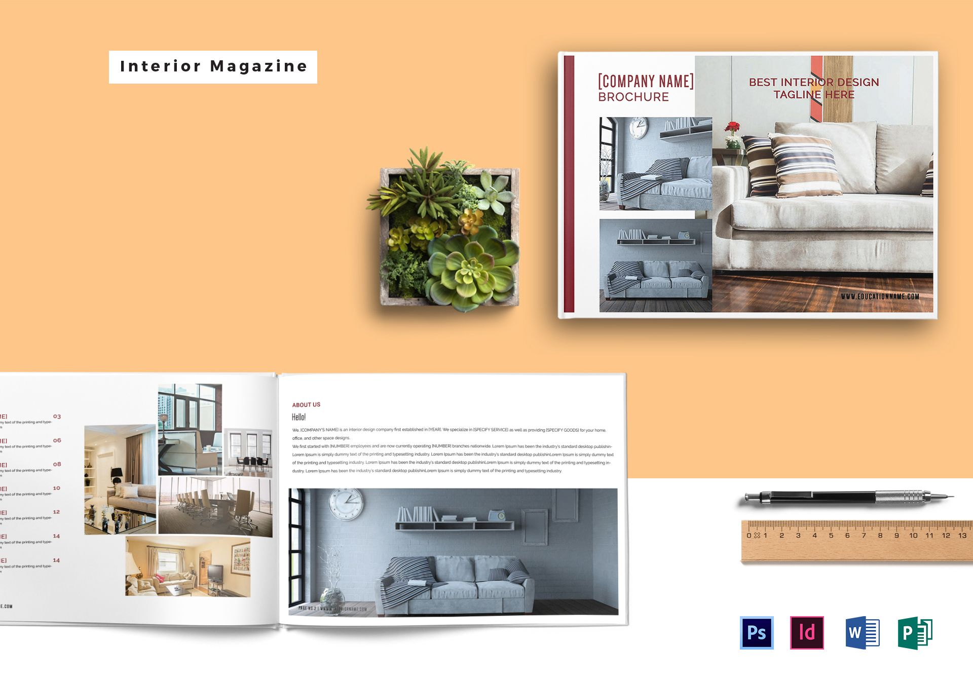 Landscape Interior Magazine Template