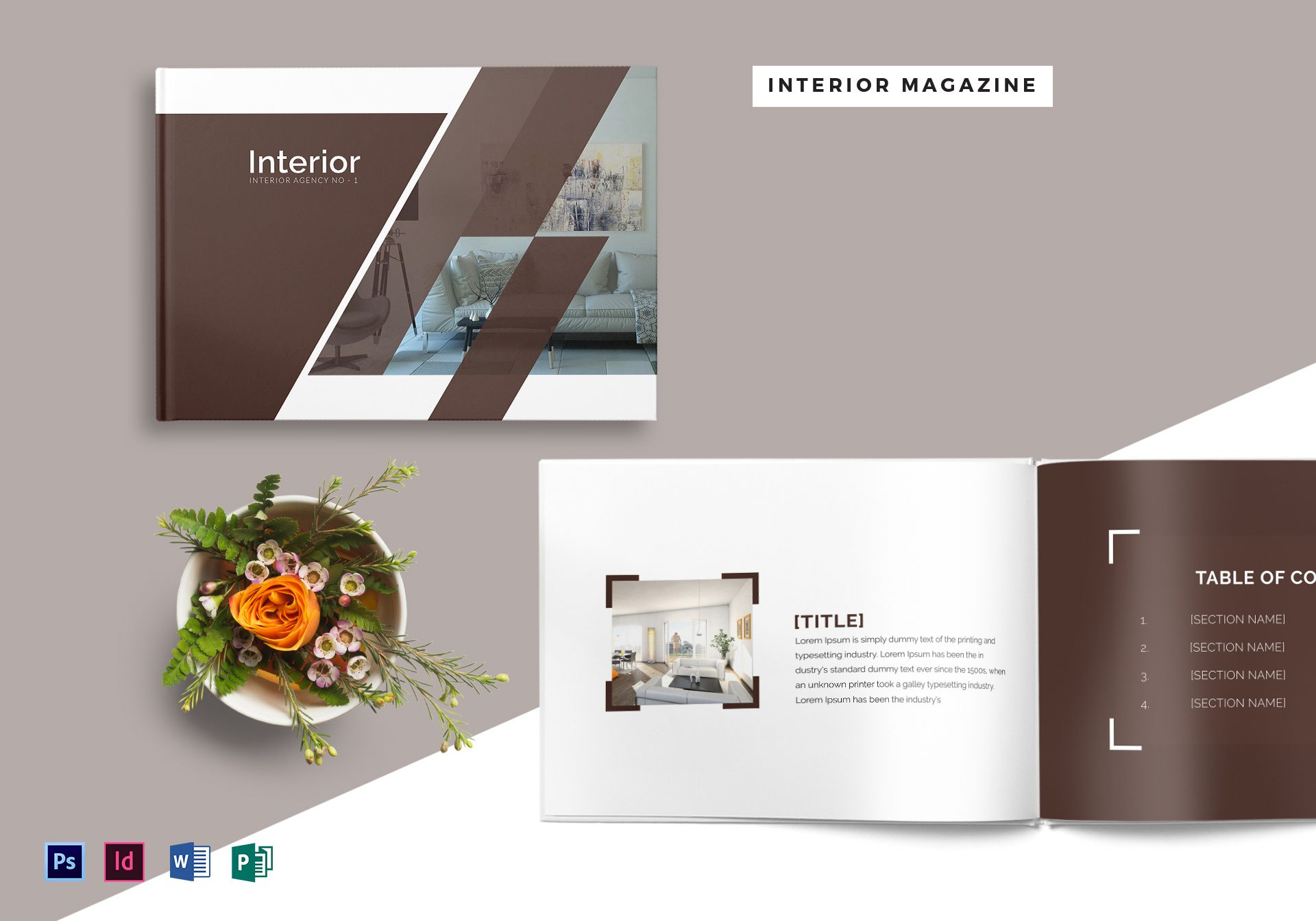 28 Pages Interior Design Magazine Template