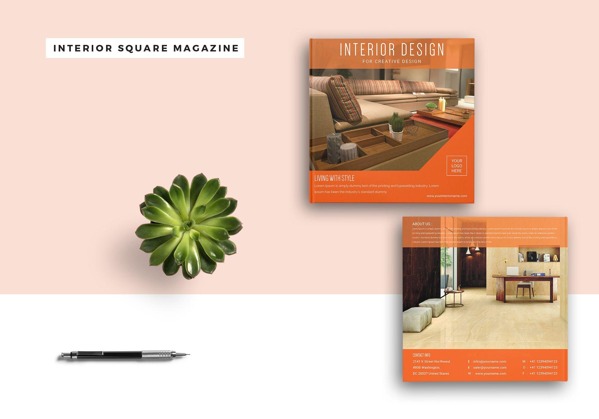 Square Interior Magazine Template