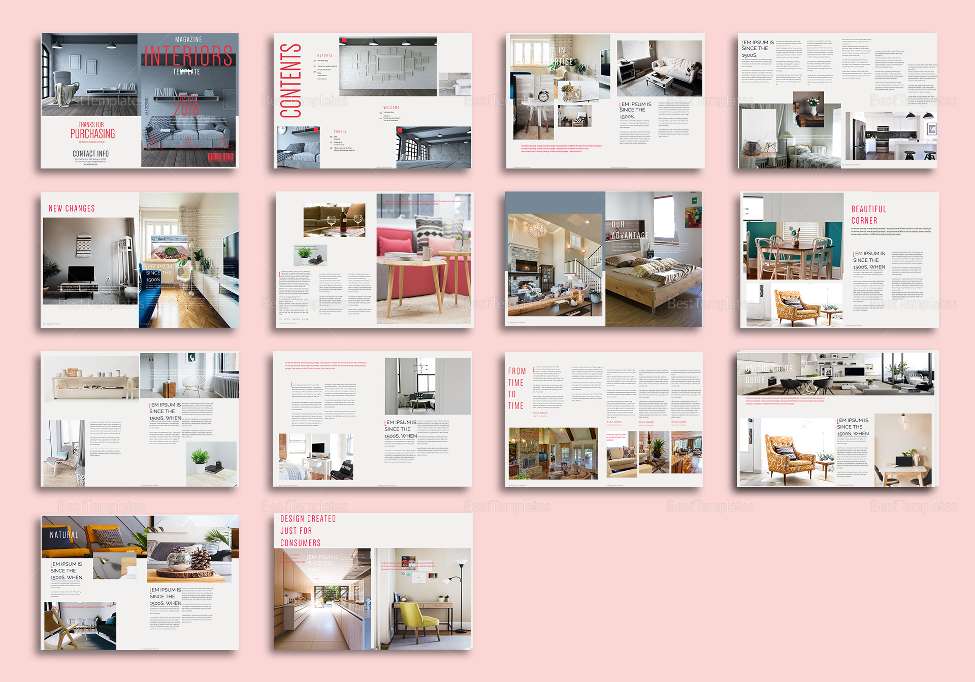 Editable Interior Magazine Template