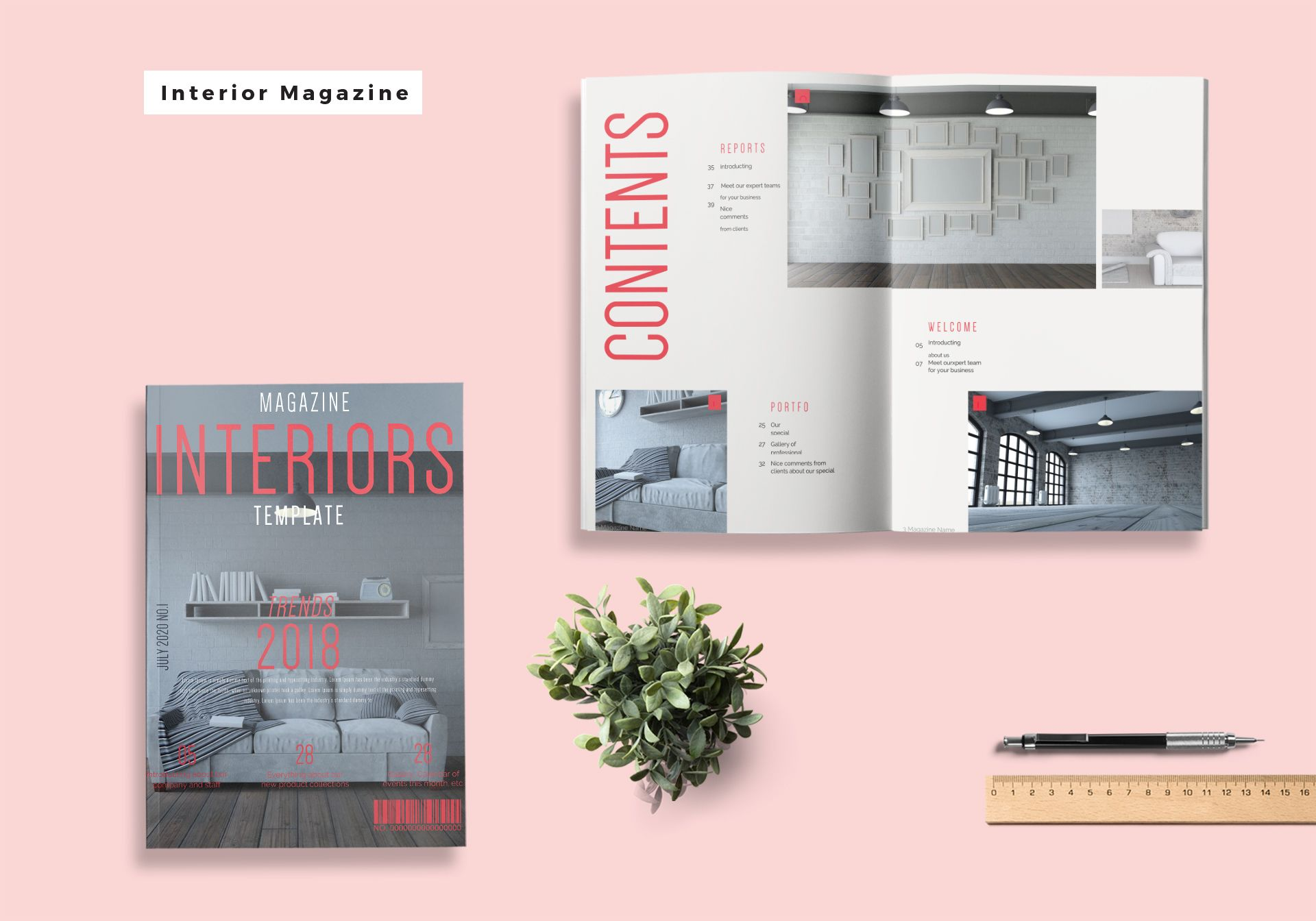 Interior Magazine Template in Word, Publisher, InDesign