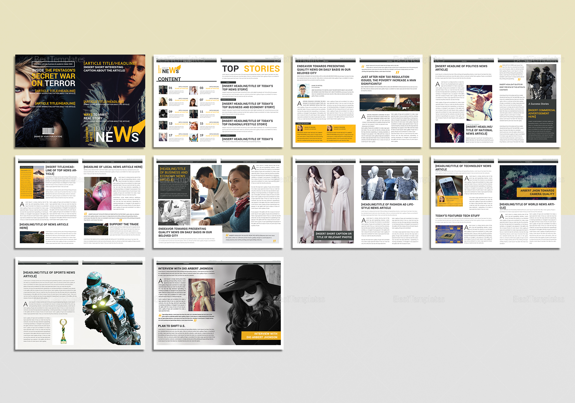 News Magazine Template Images - Template Design Ideas