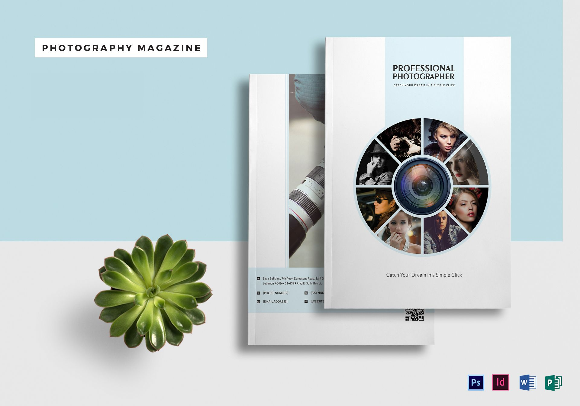 A4 Photography Magazine Template in PSD, Word, Publisher, InDesign