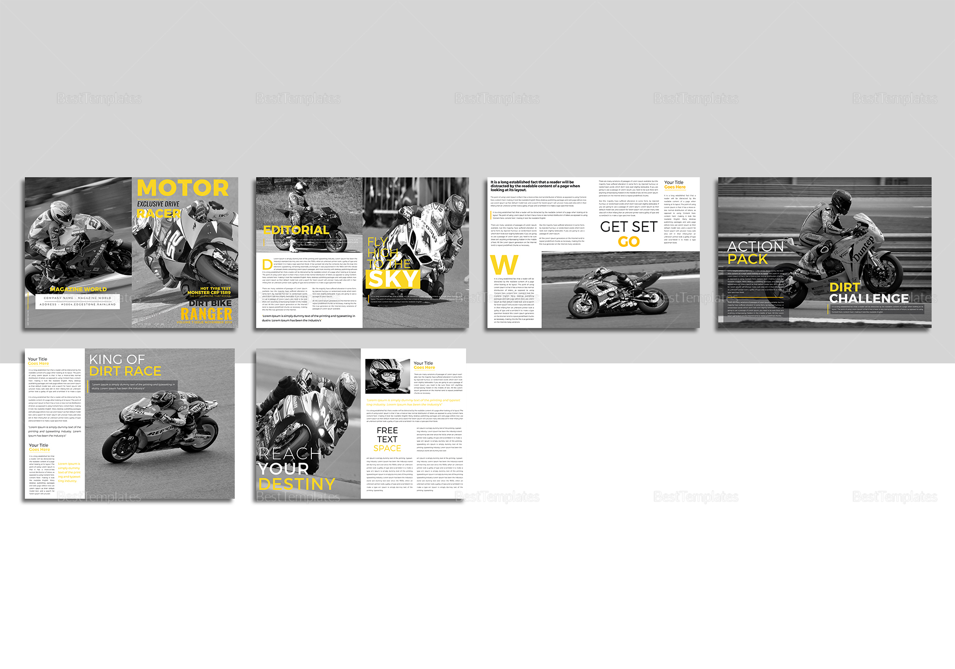 Sample Sports Magazine Template
