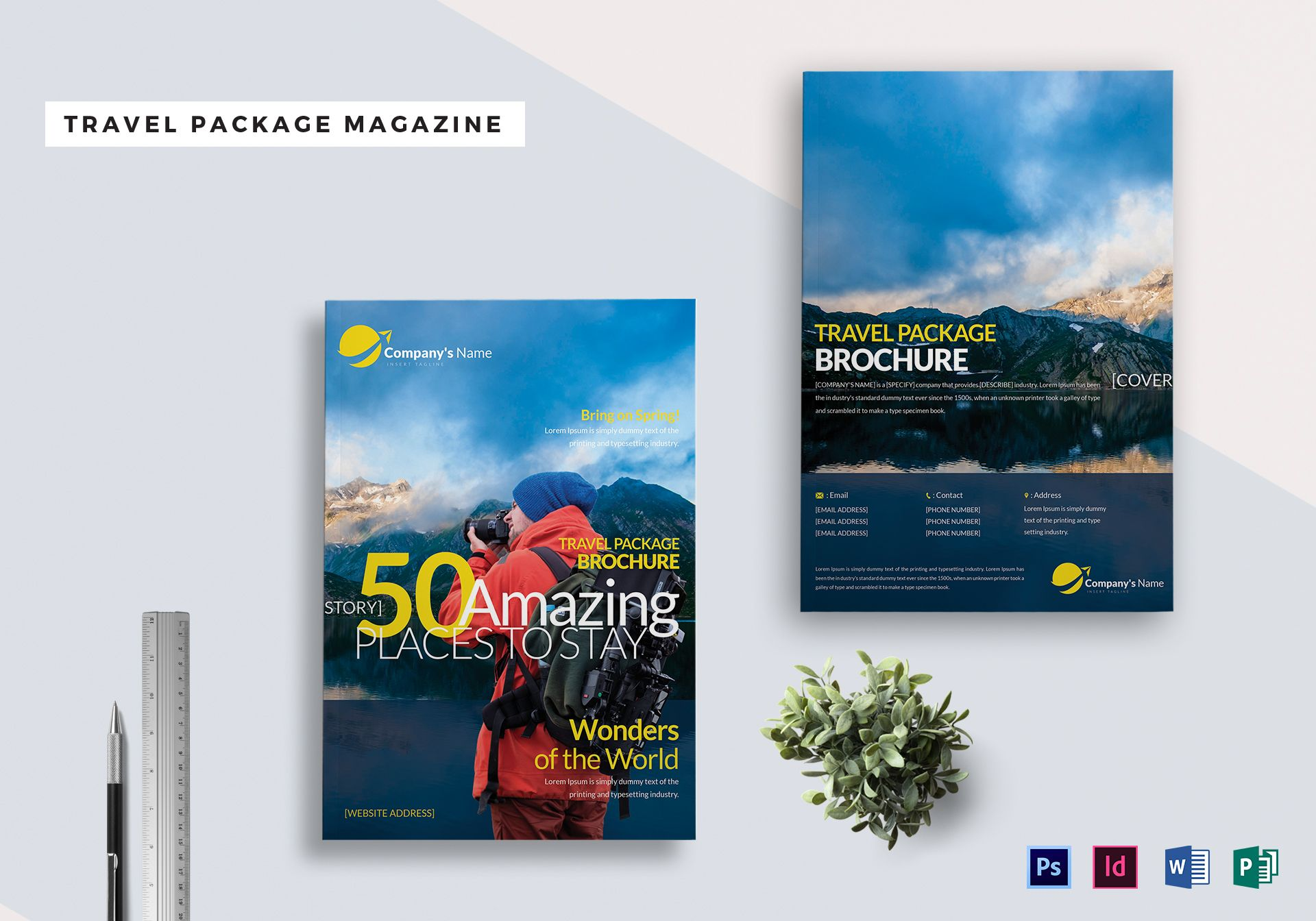 Travel Package Magazine Template