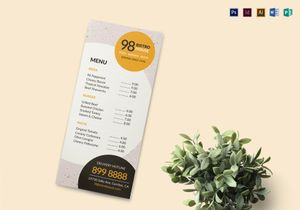 Menu Designs Templates In Word Psd Publisher Illustrator Indesign
