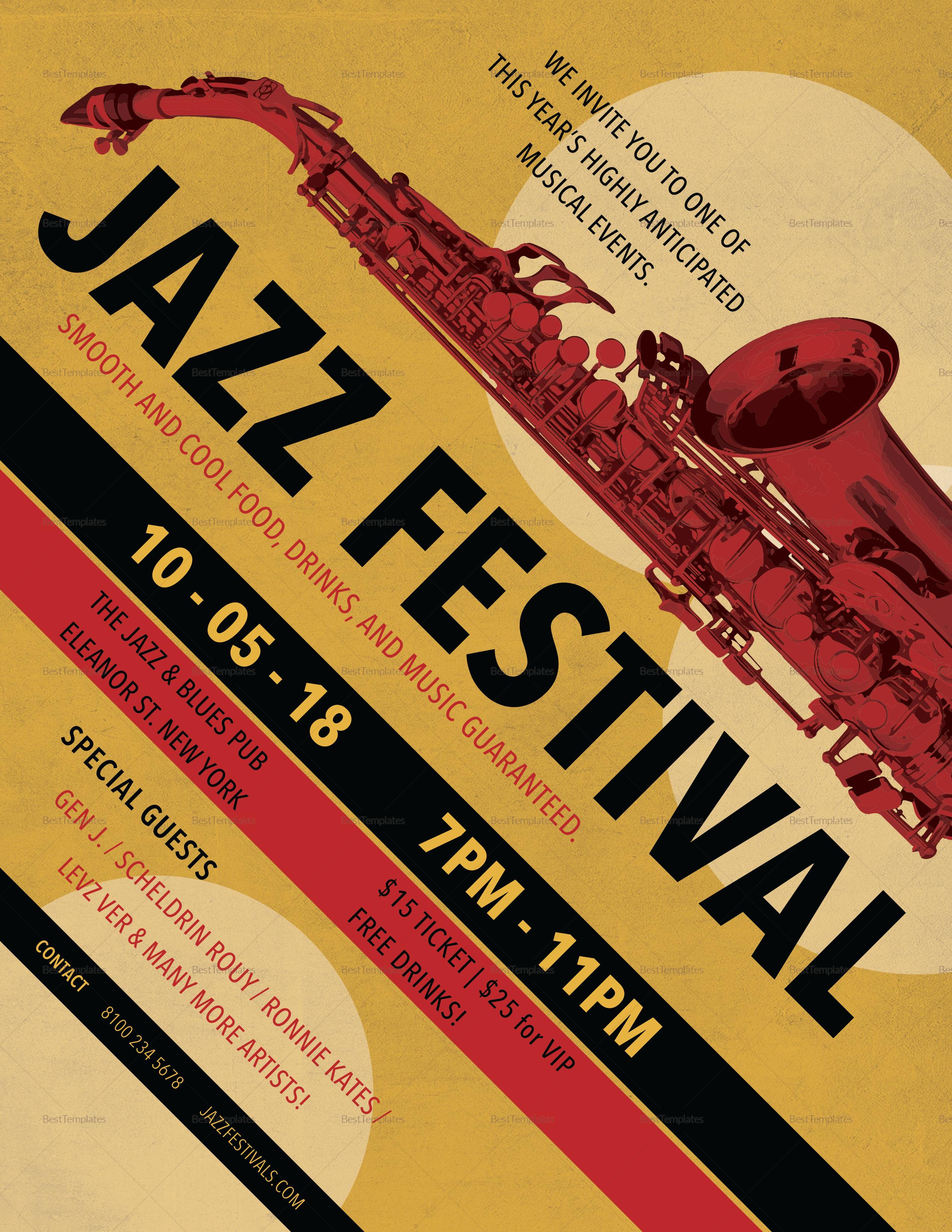 Sample Jazz Festival Flyer