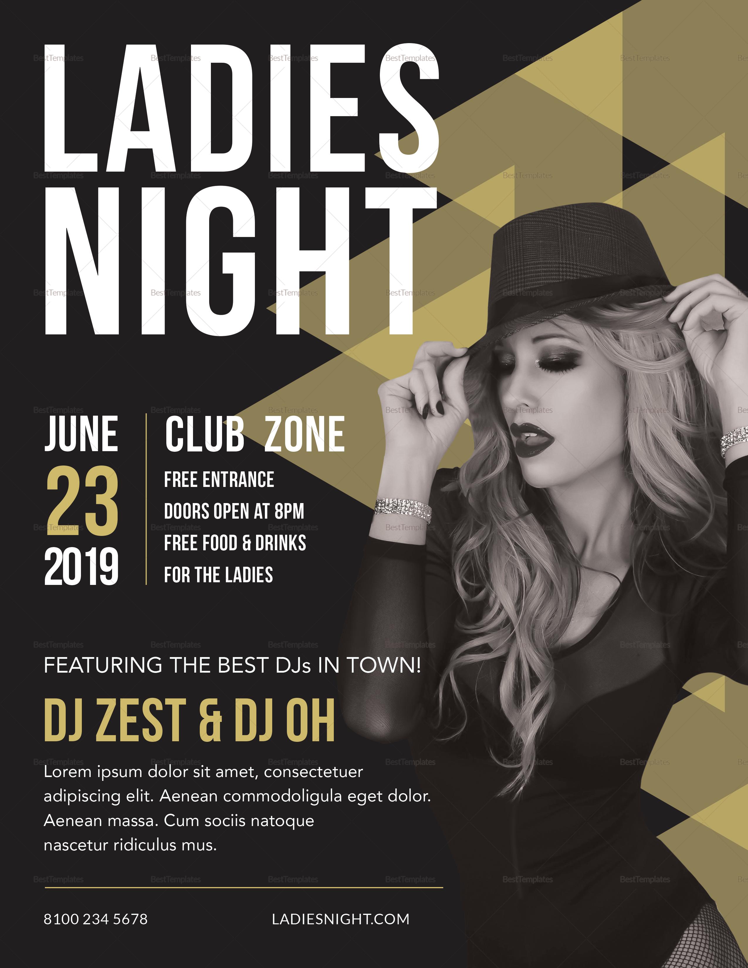 Sample Ladies Night Flyer