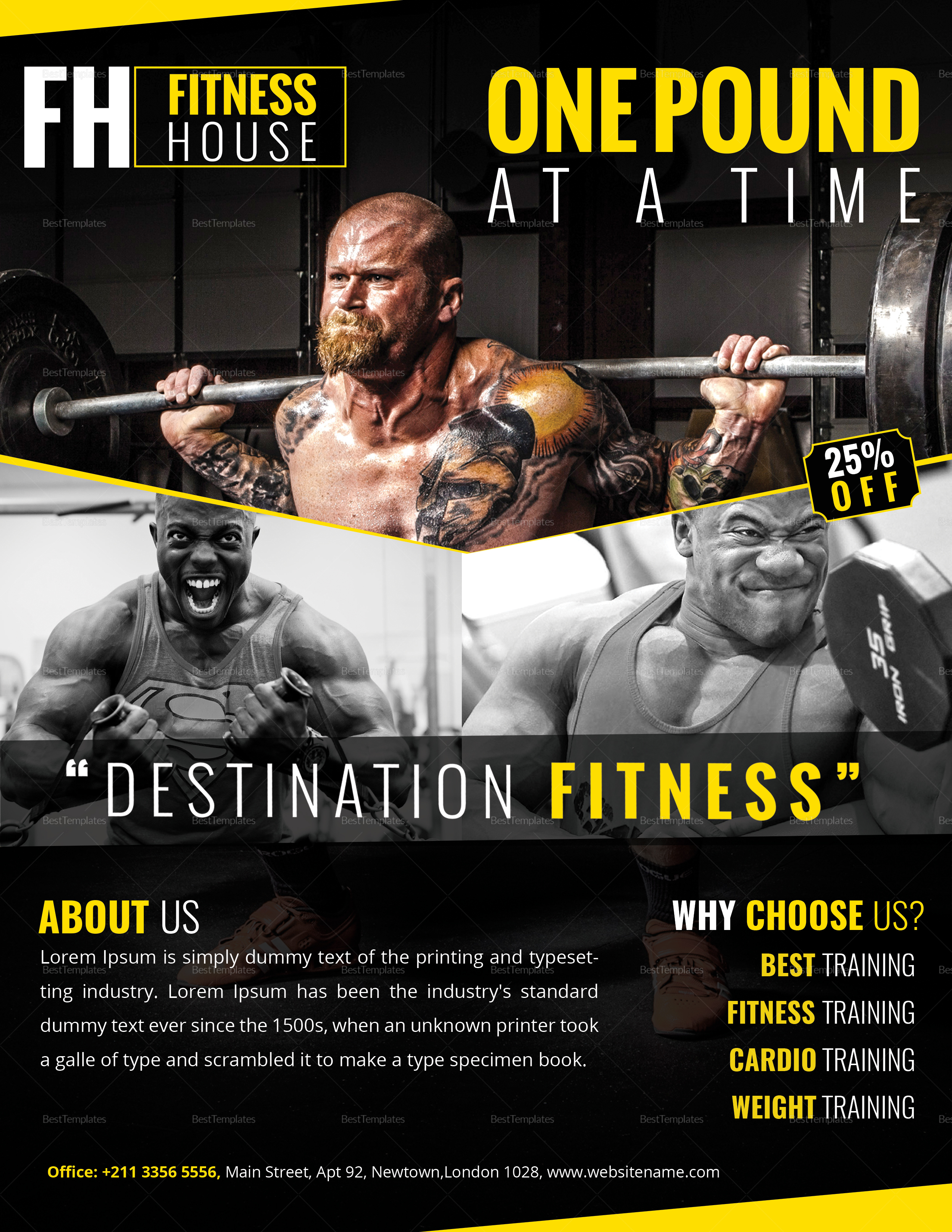 Rock Fitness Flyer Template
