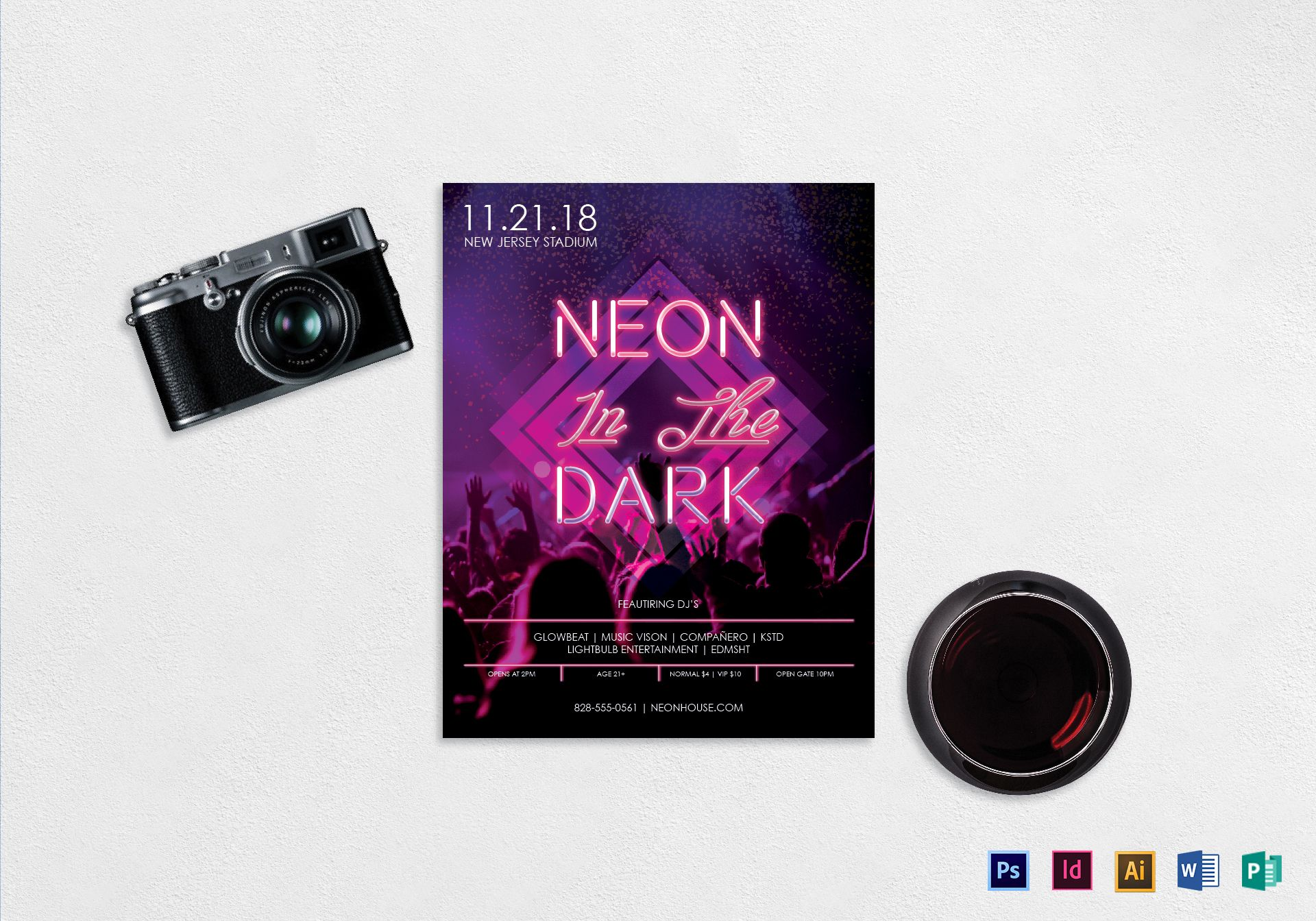 Neon Music Flyer Template