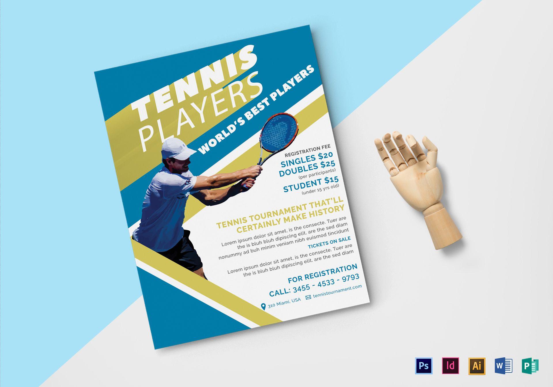Tennis Player Flyer