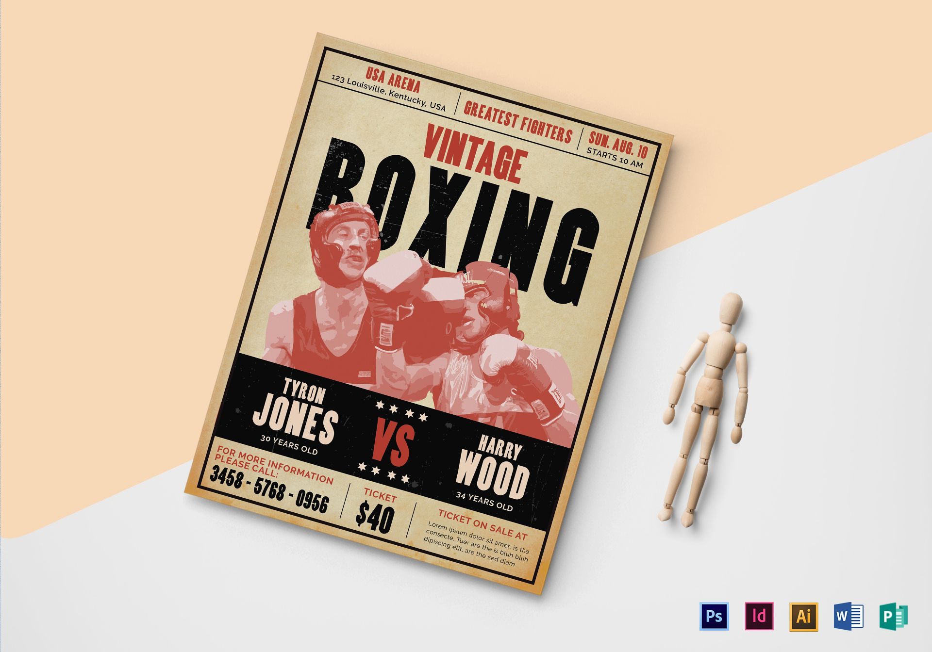Vintage Boxing Flyer