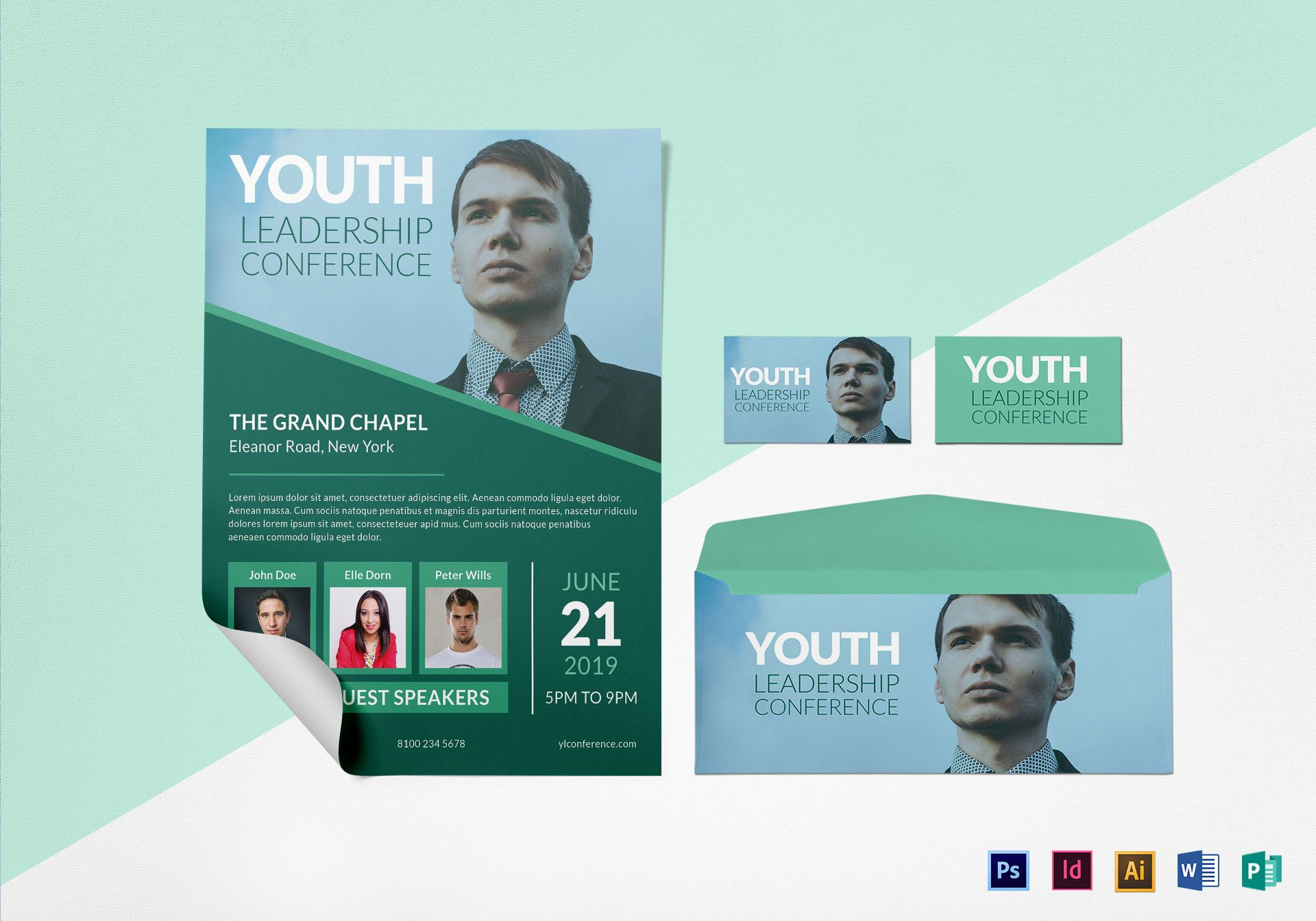 Youth Leadership Conference Flyer Design Template in PSD, Word ...