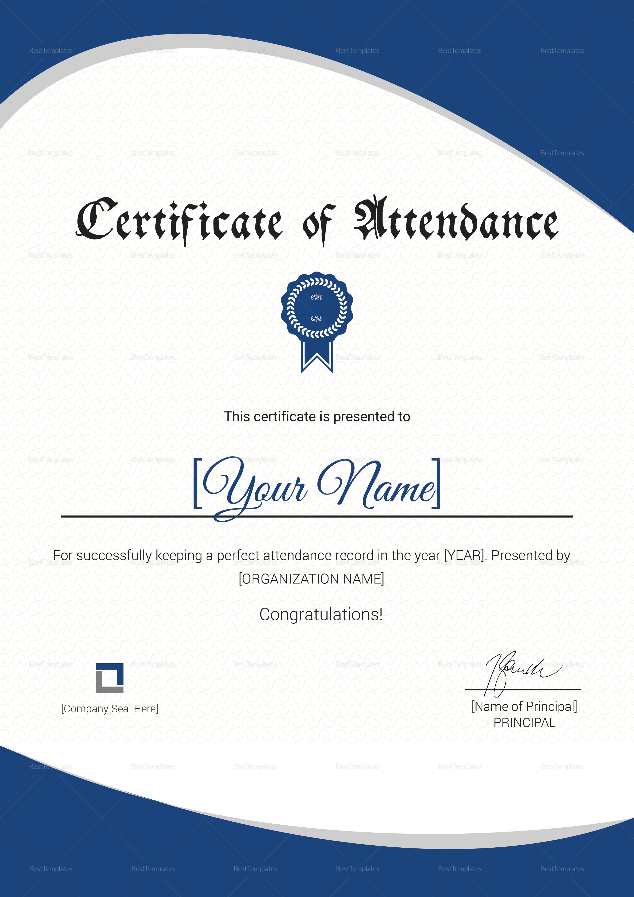 Attendance_Certificate Template
