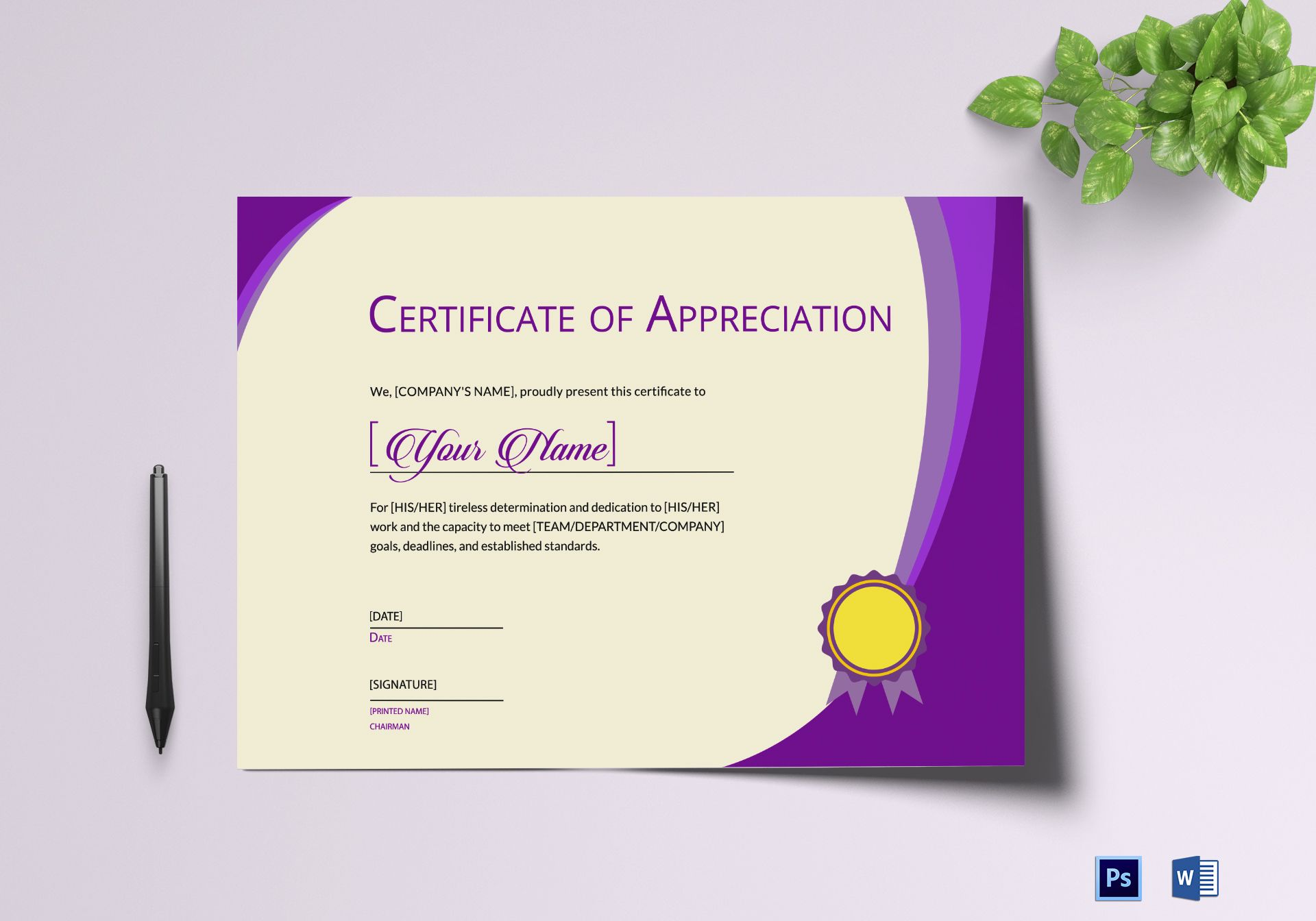 Expression Of Thank You Certificate ...