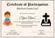 Sample Bible Prophecy Certificate for Kids