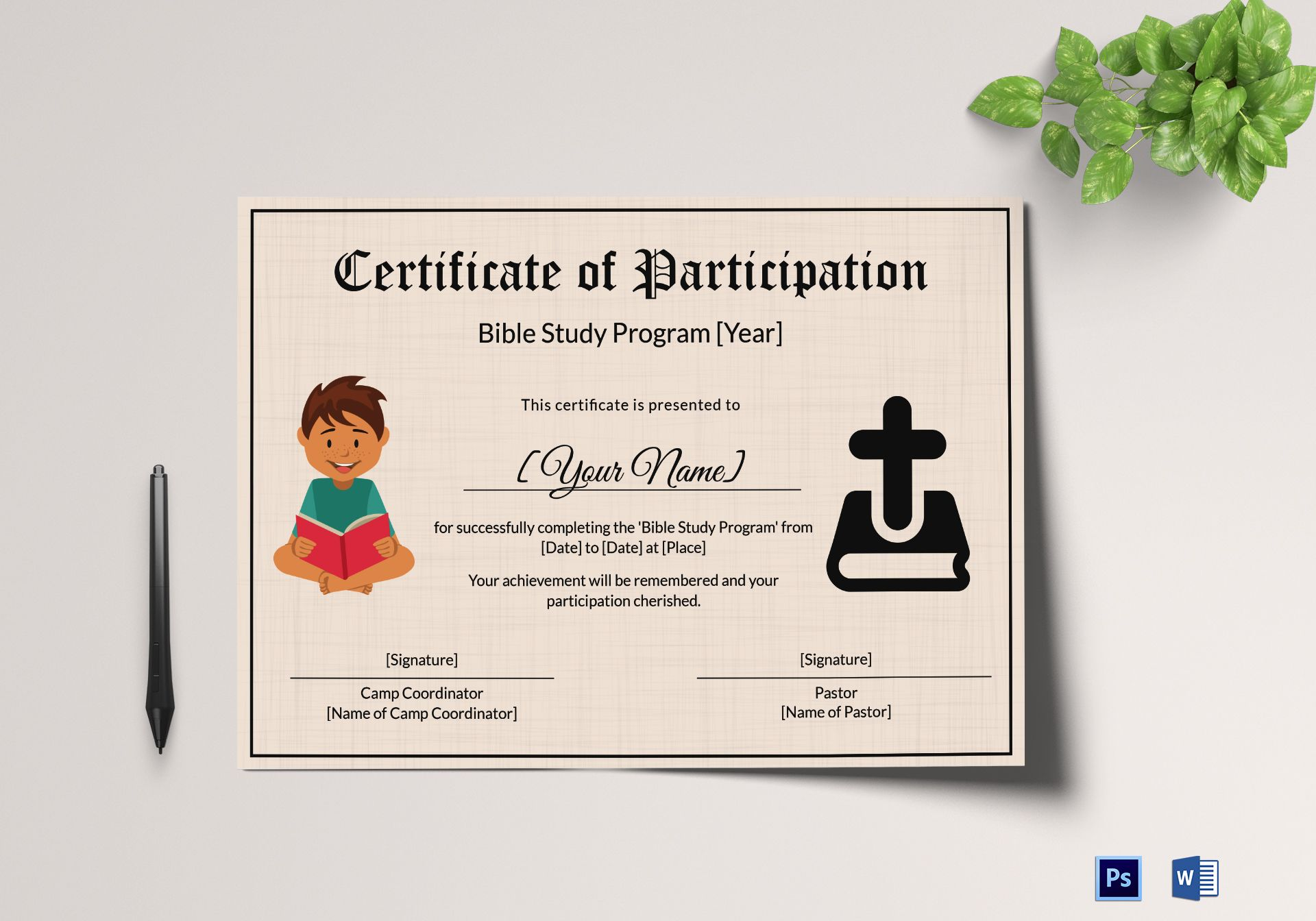 bible study certificate templates bible prophecy program certificate for kids design