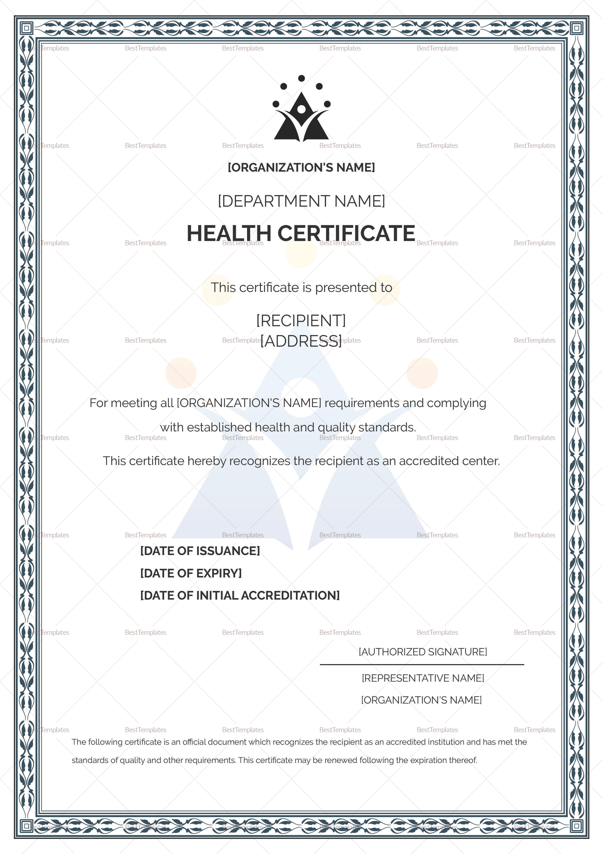 Universal Child Health Certificate