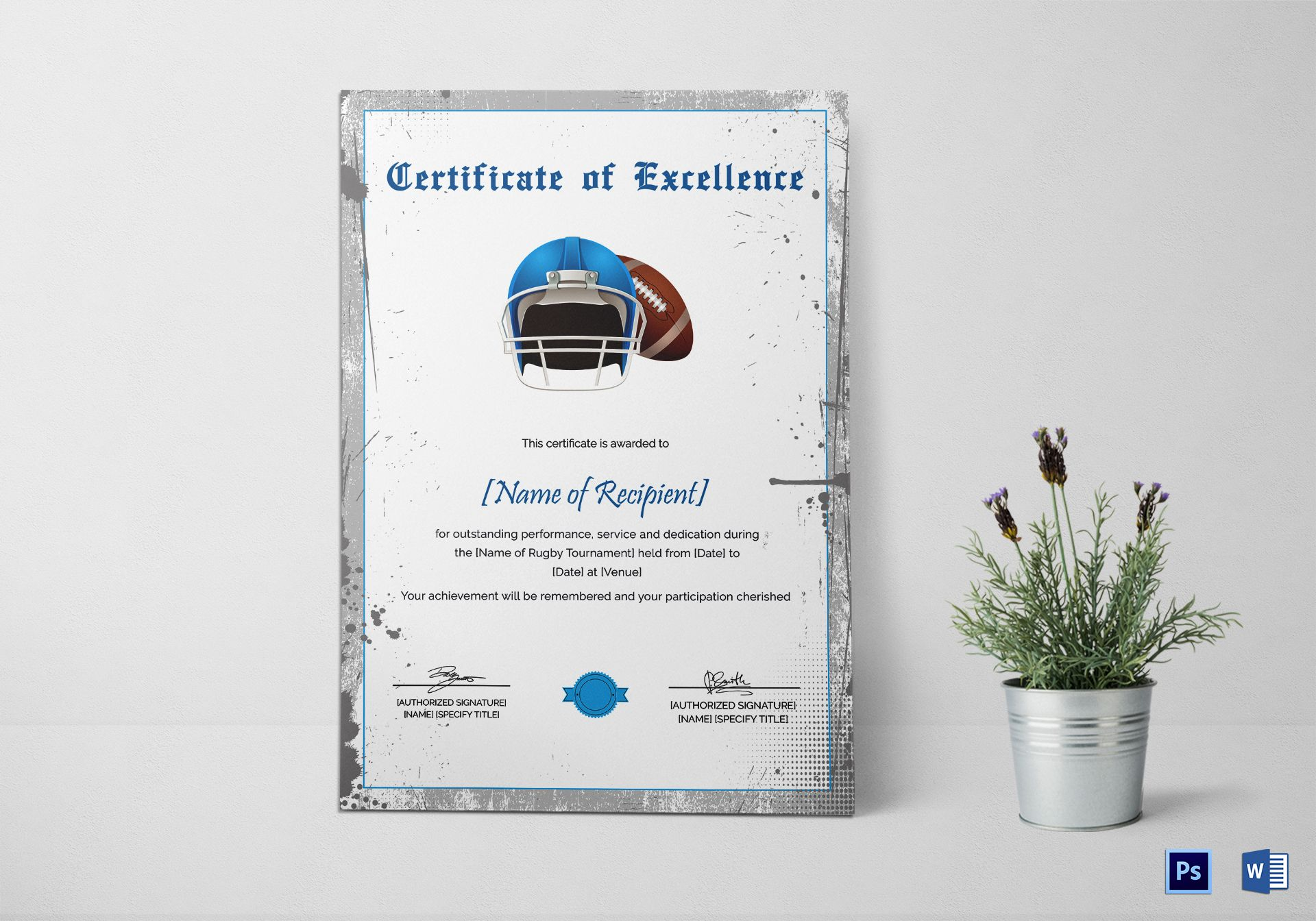 Rugby Certificate of Excellence