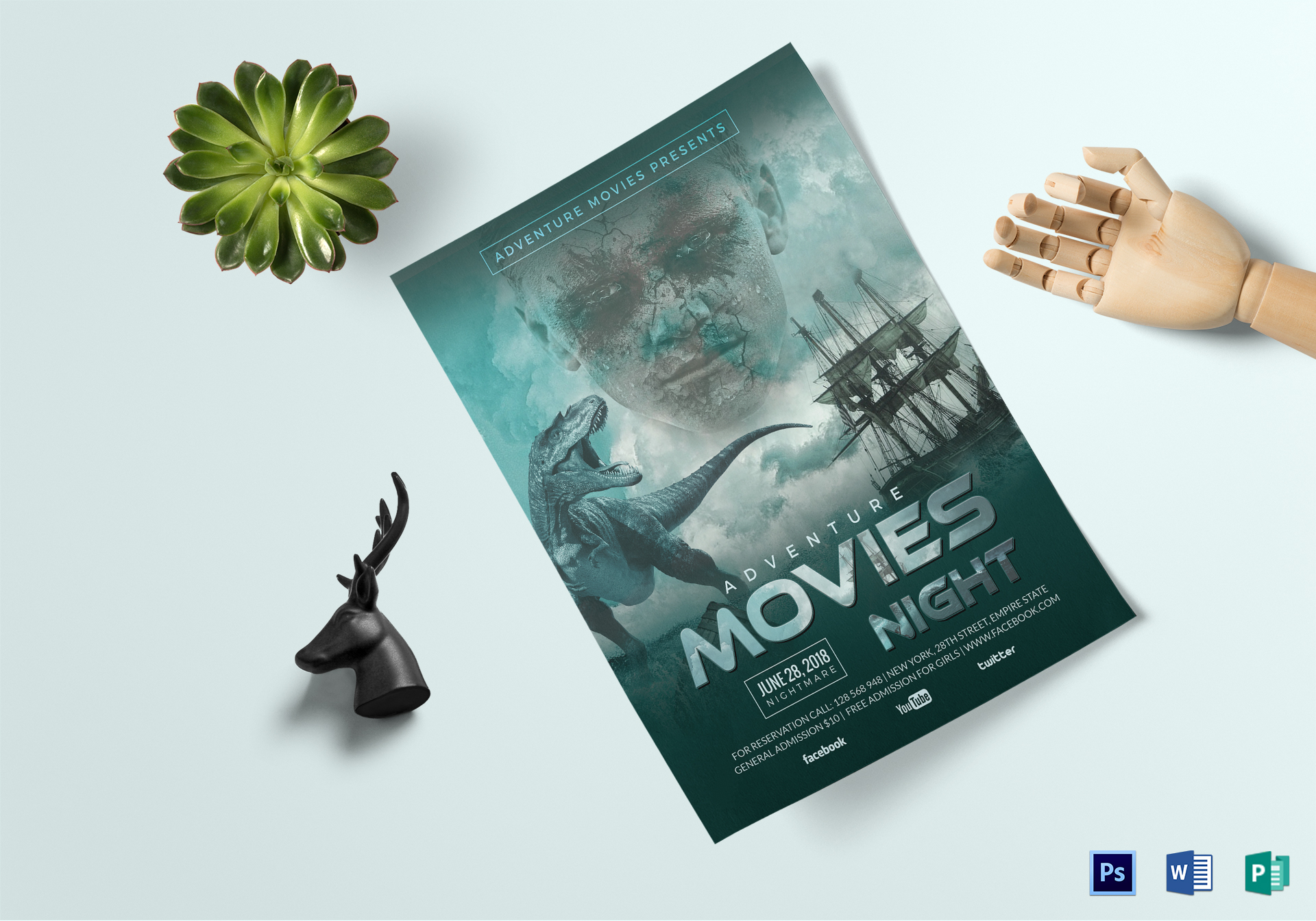 Adventure Movies Night Flyer