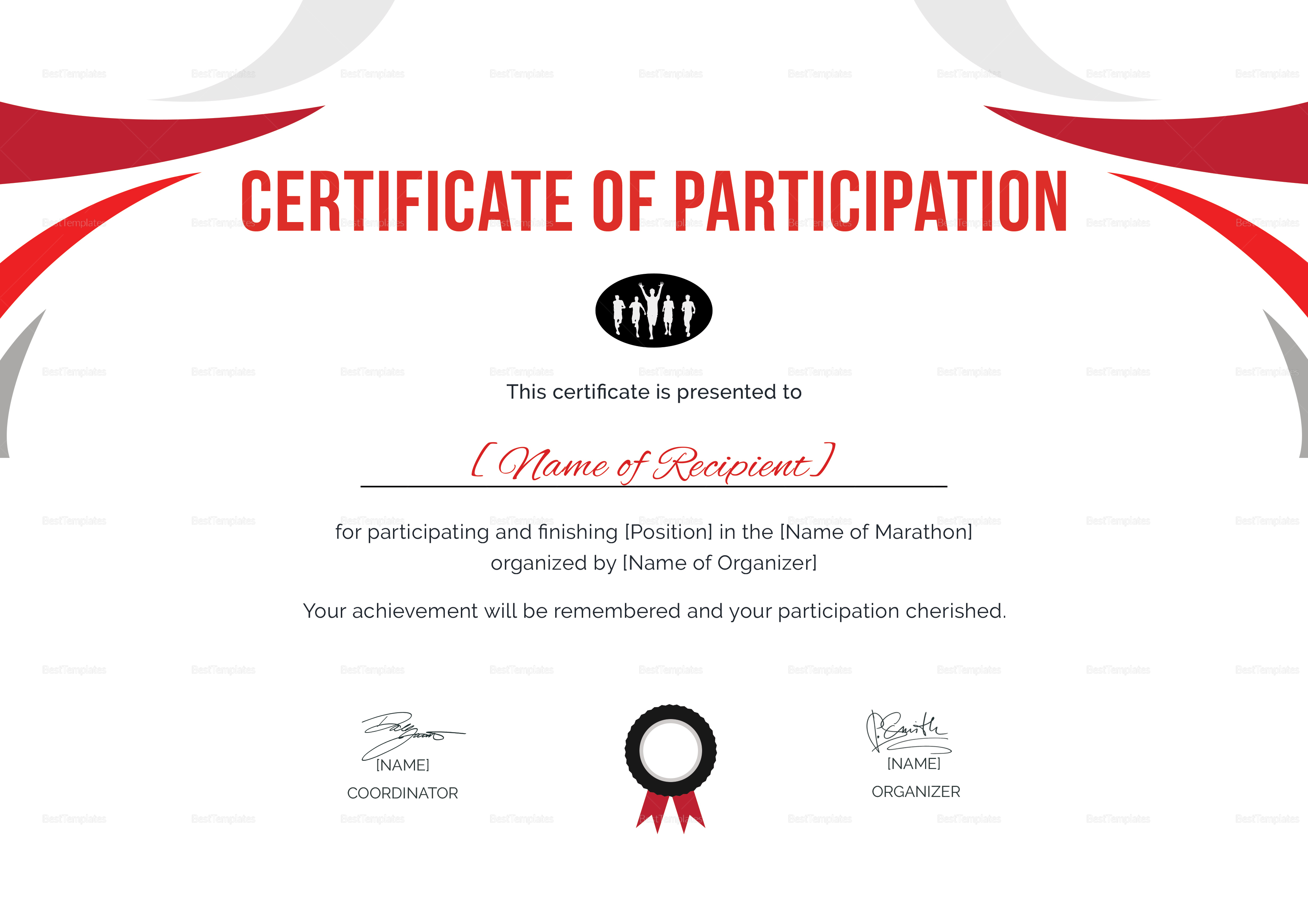 Running Certificates Templates Free - Awesome Professional In Running Certificates Templates Free