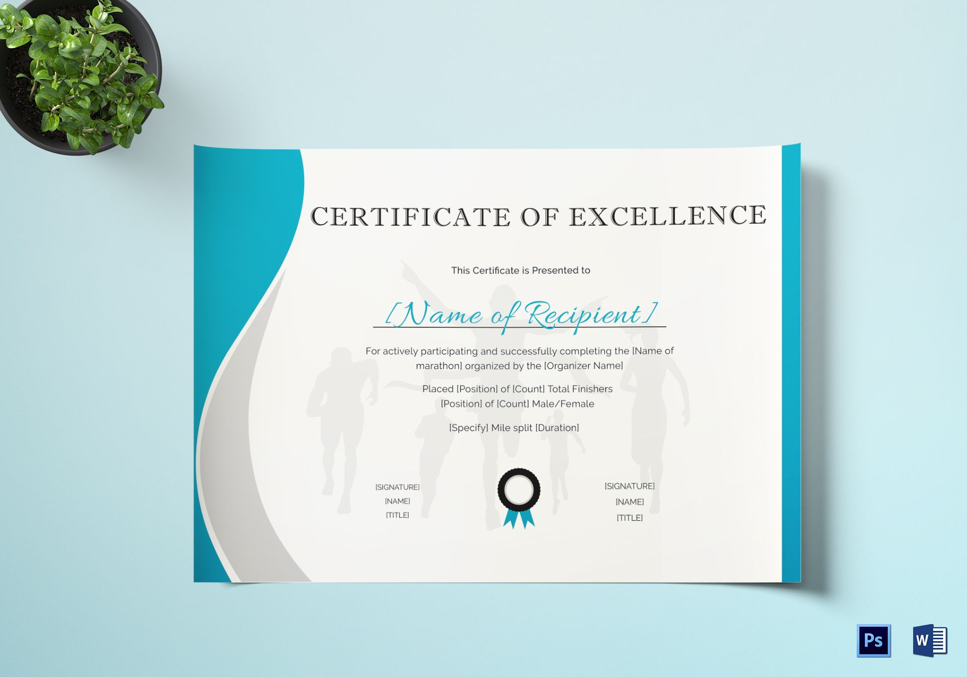 Excellence Certificate for Running