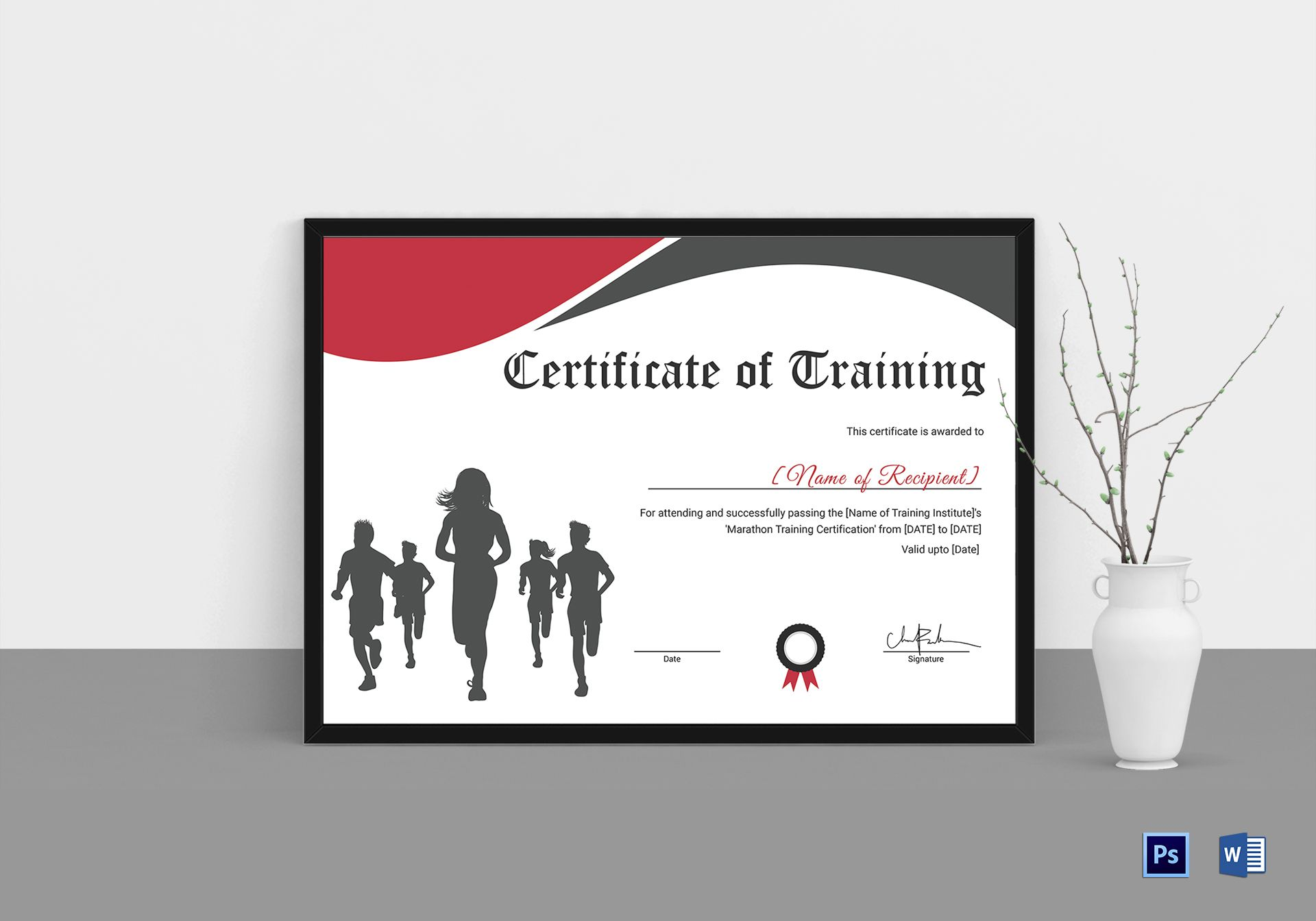 Certificate of Training for Running Template
