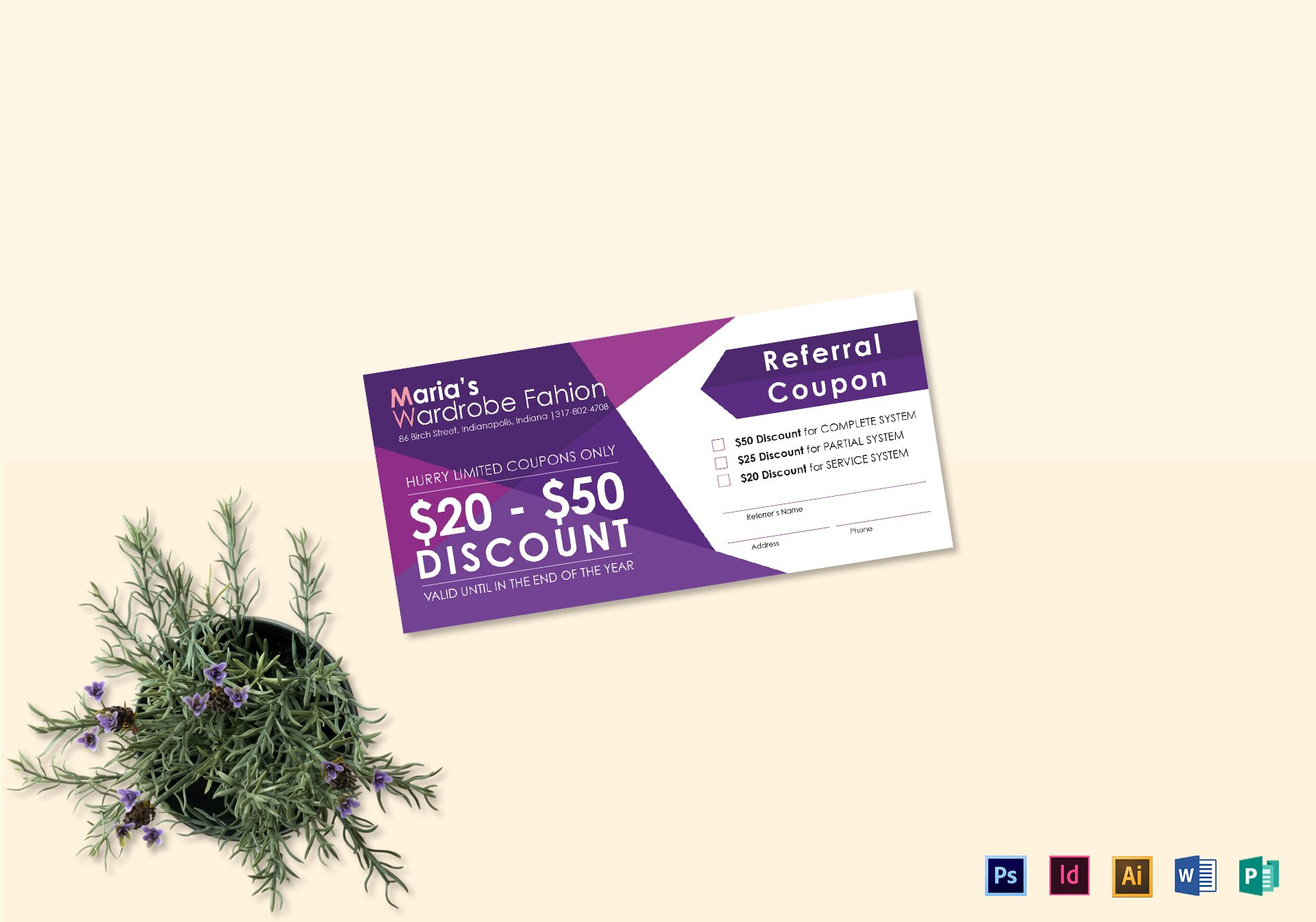 Purple Referral Coupon