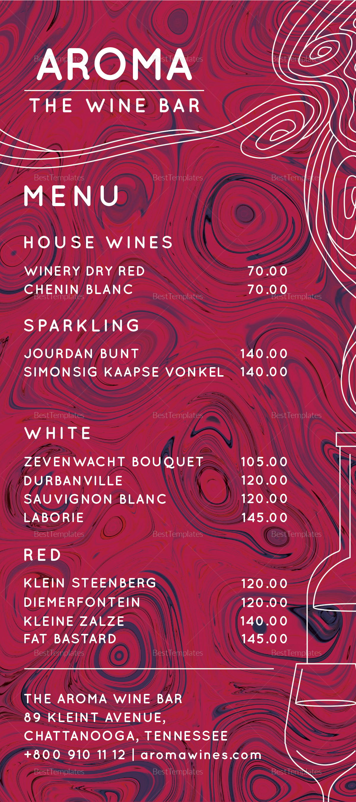 Wine Bar Menu