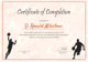 Basketball Completion Certificate