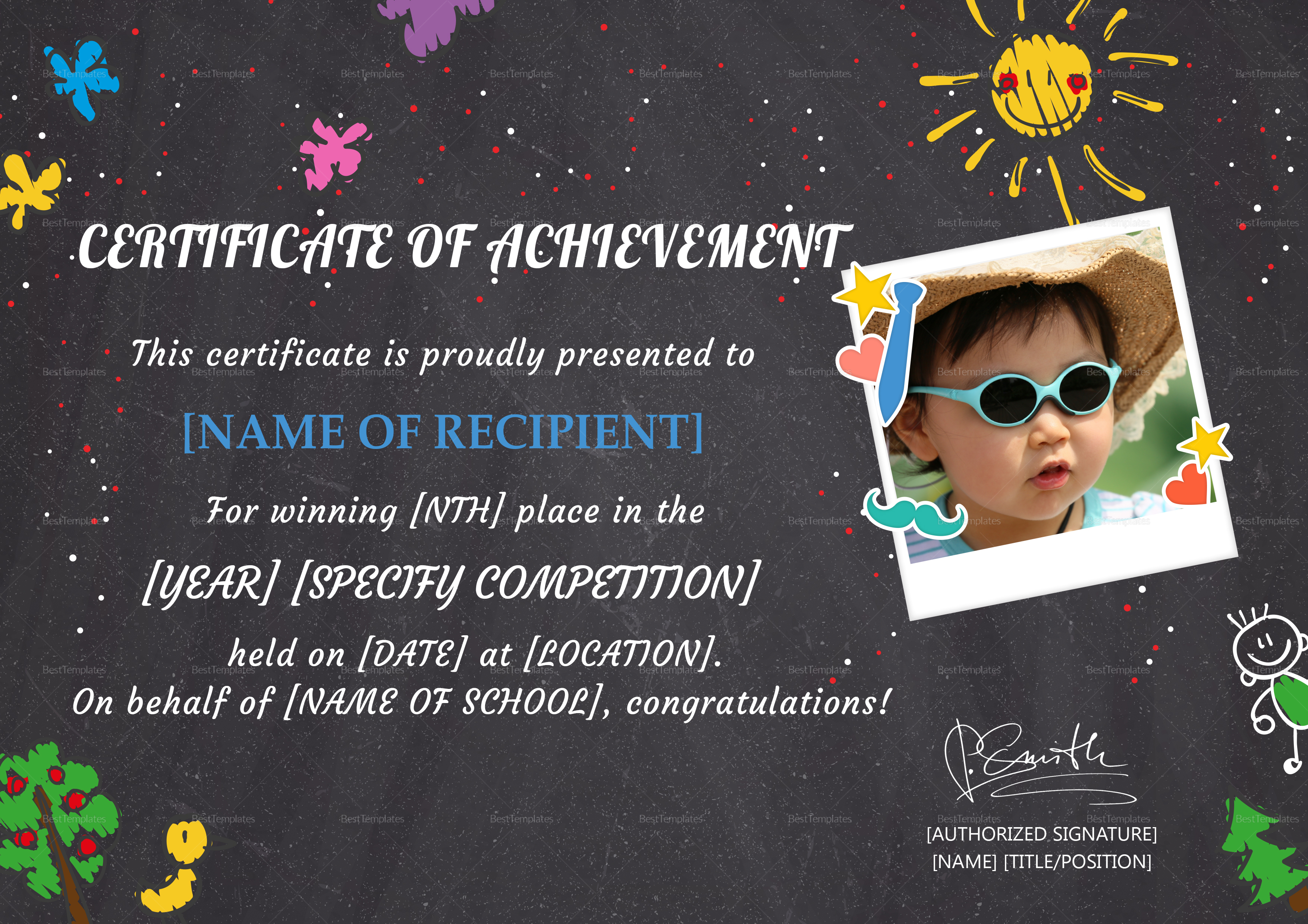 School Certificate of Achievement