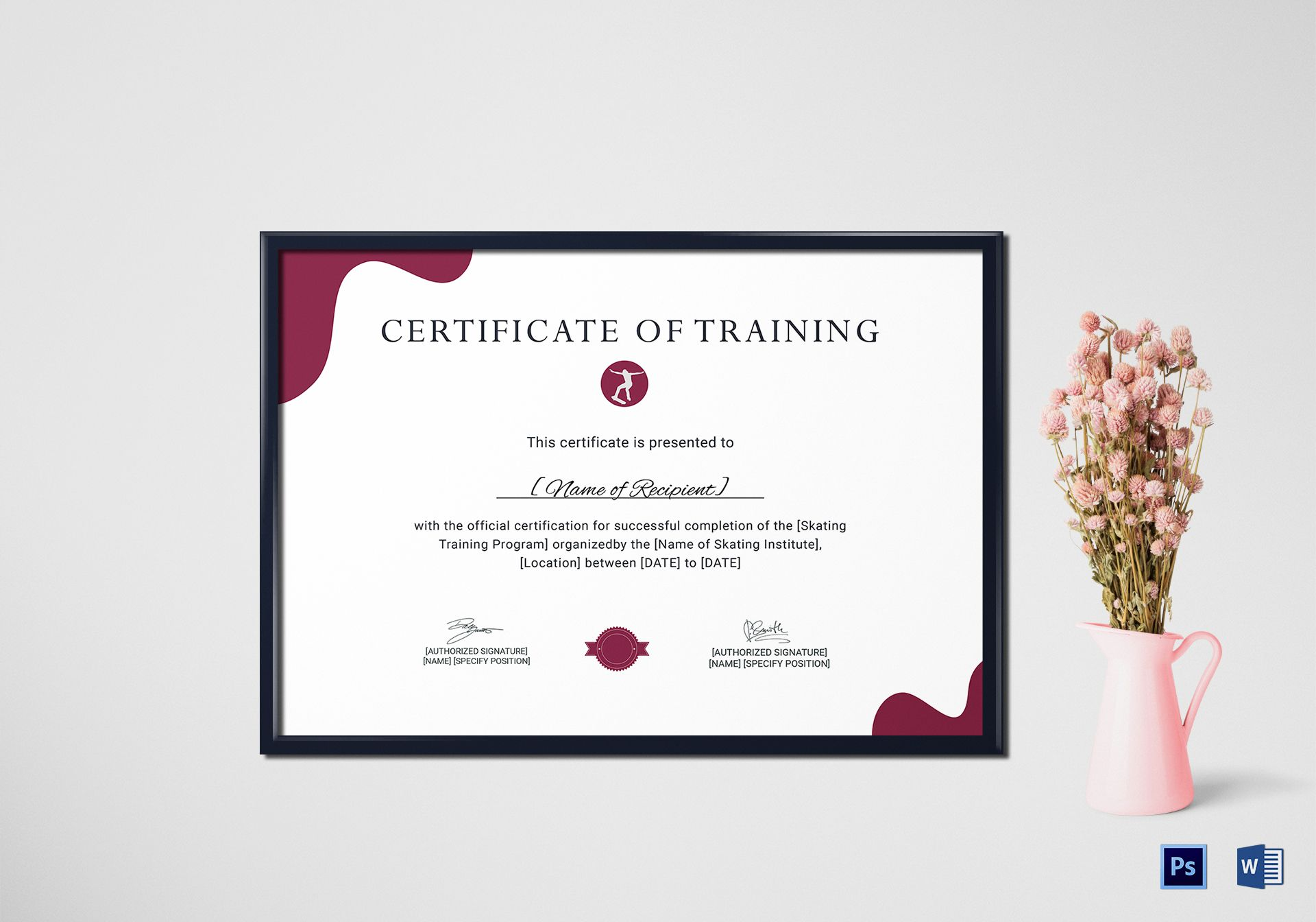 Training Certificate for Skating
