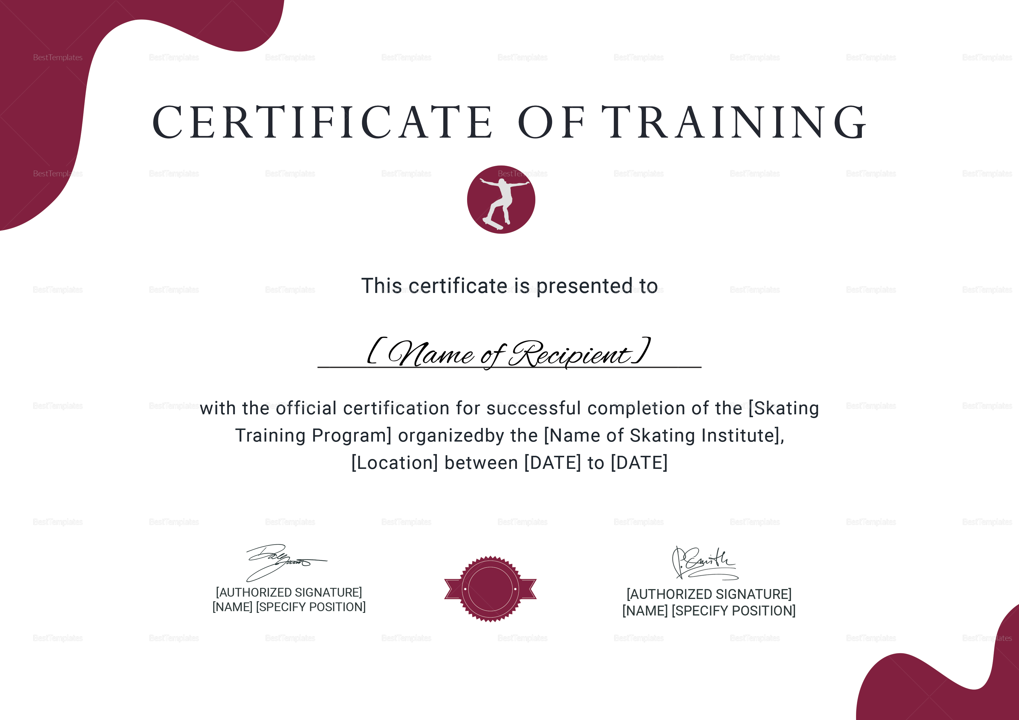 Trainer Certificate Template