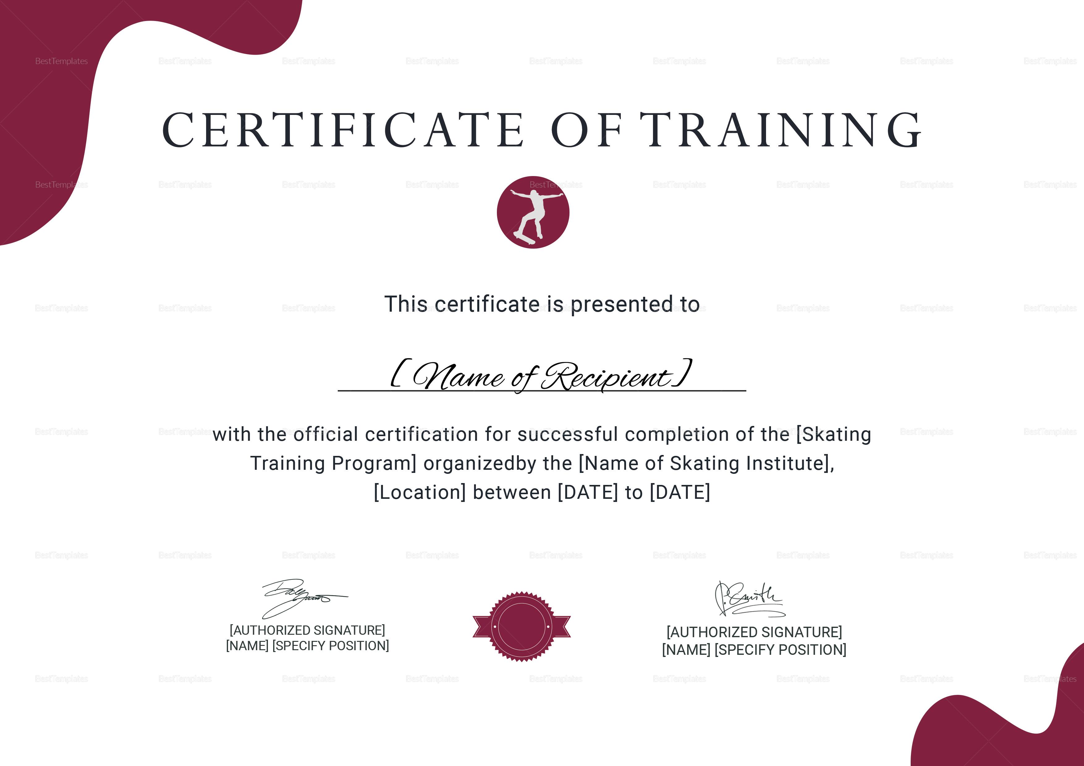 Trainer Certificate Template