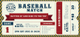 Baseball Ticket