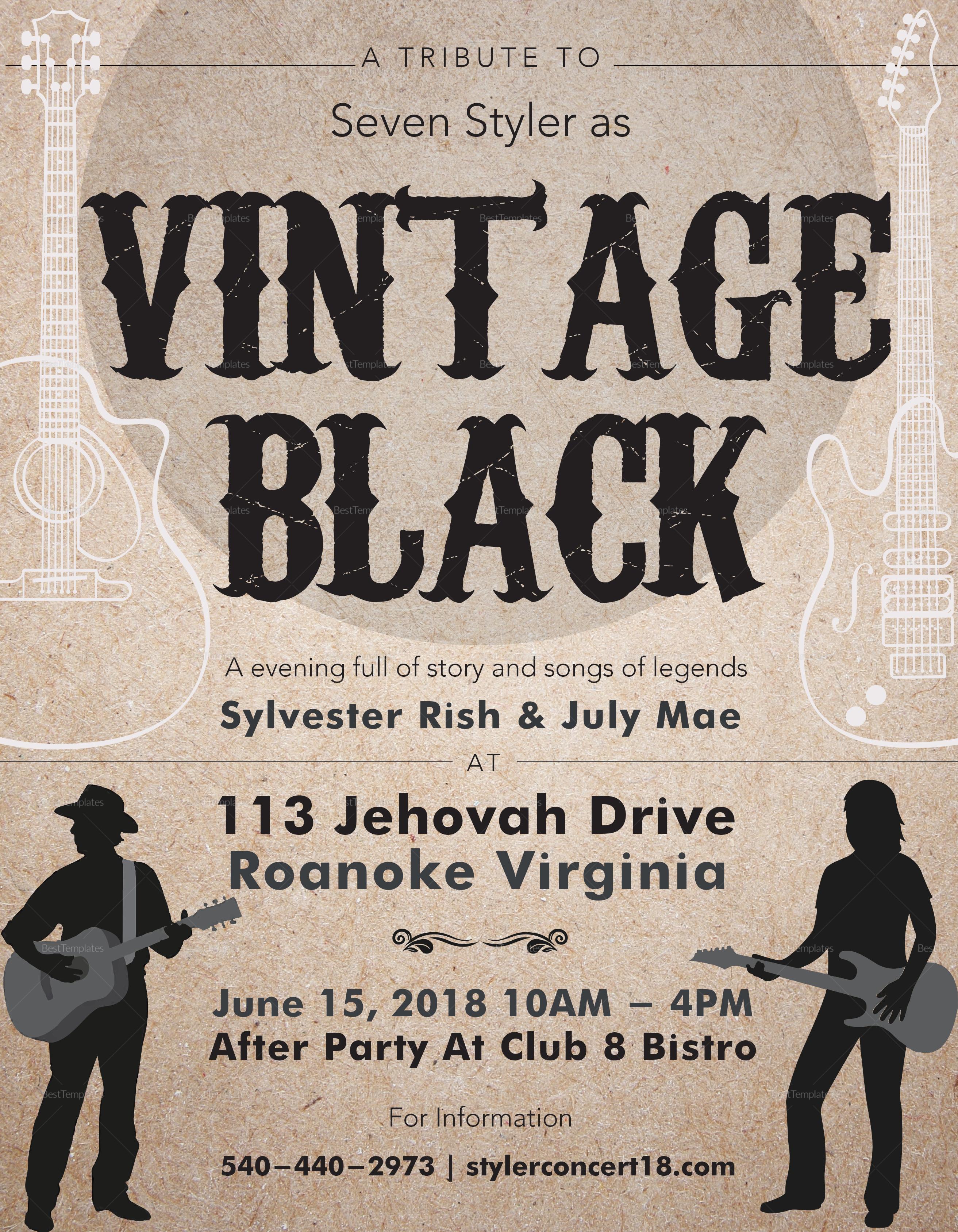 Revised Vintage Music Flyer