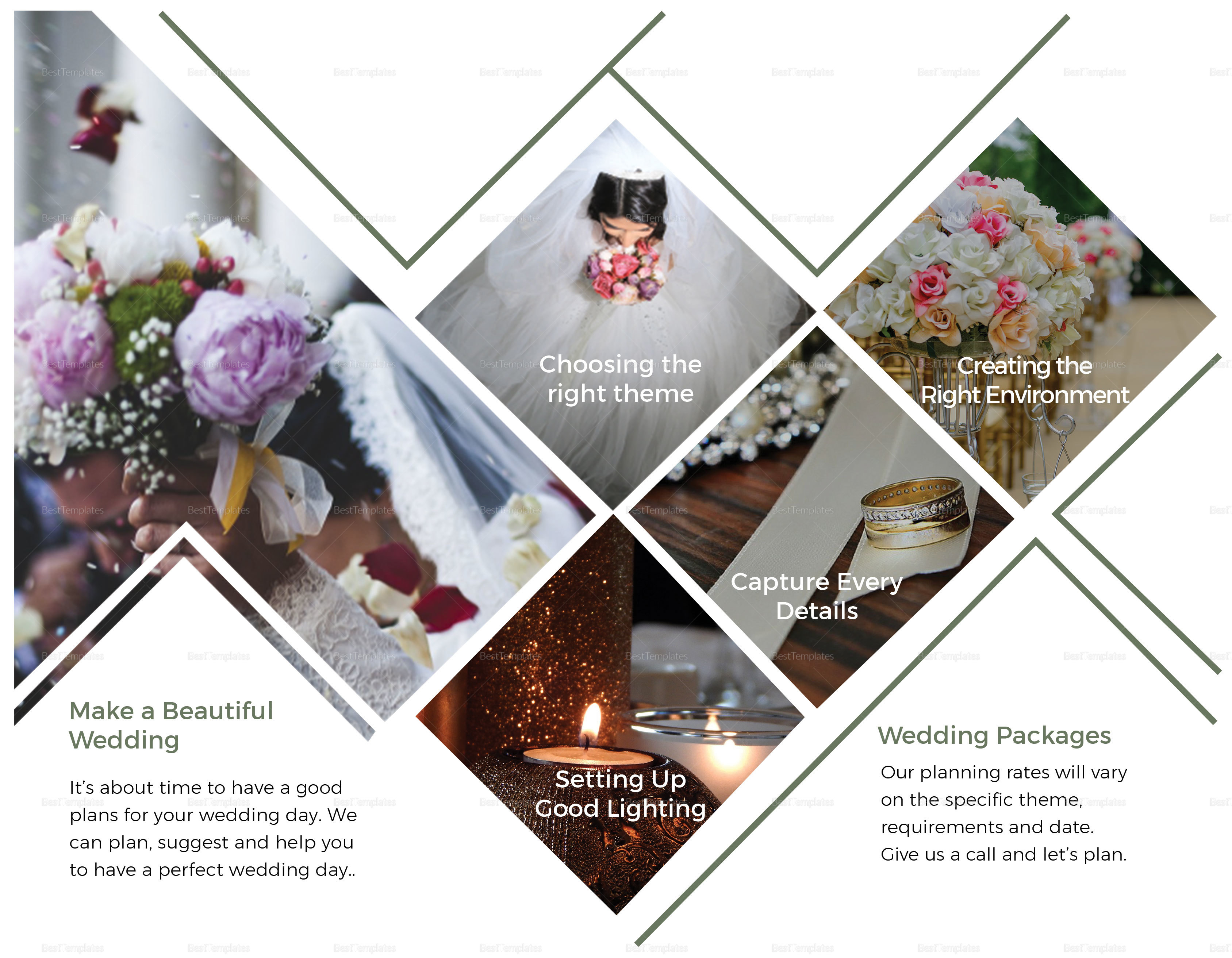 Wedding planner brochure design template in psd word for Wedding planner brochure template