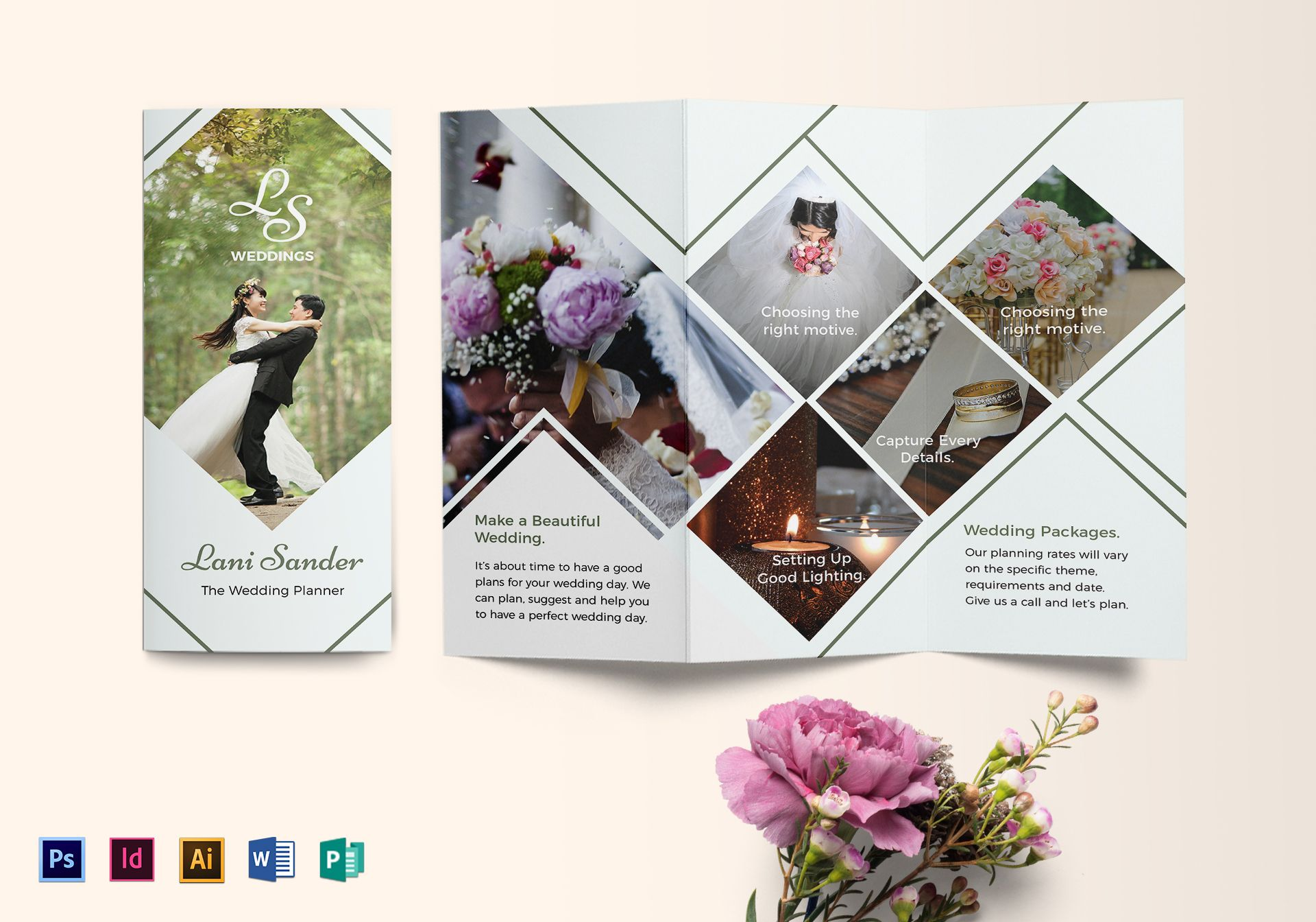 wedding planner brochure design template in psd word publisher