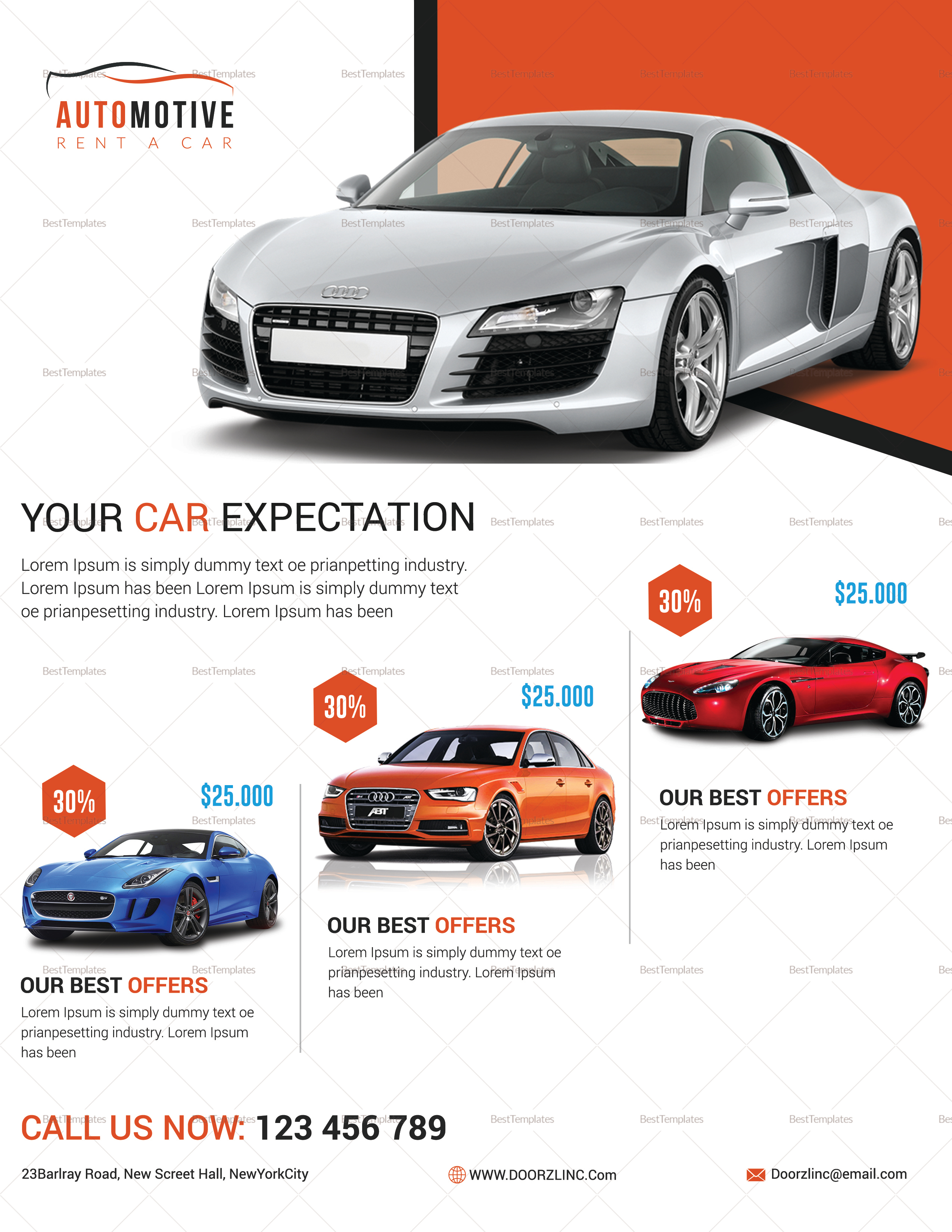 Automotive Car Sale Flyer Design Template in PSD, Word, Publisher