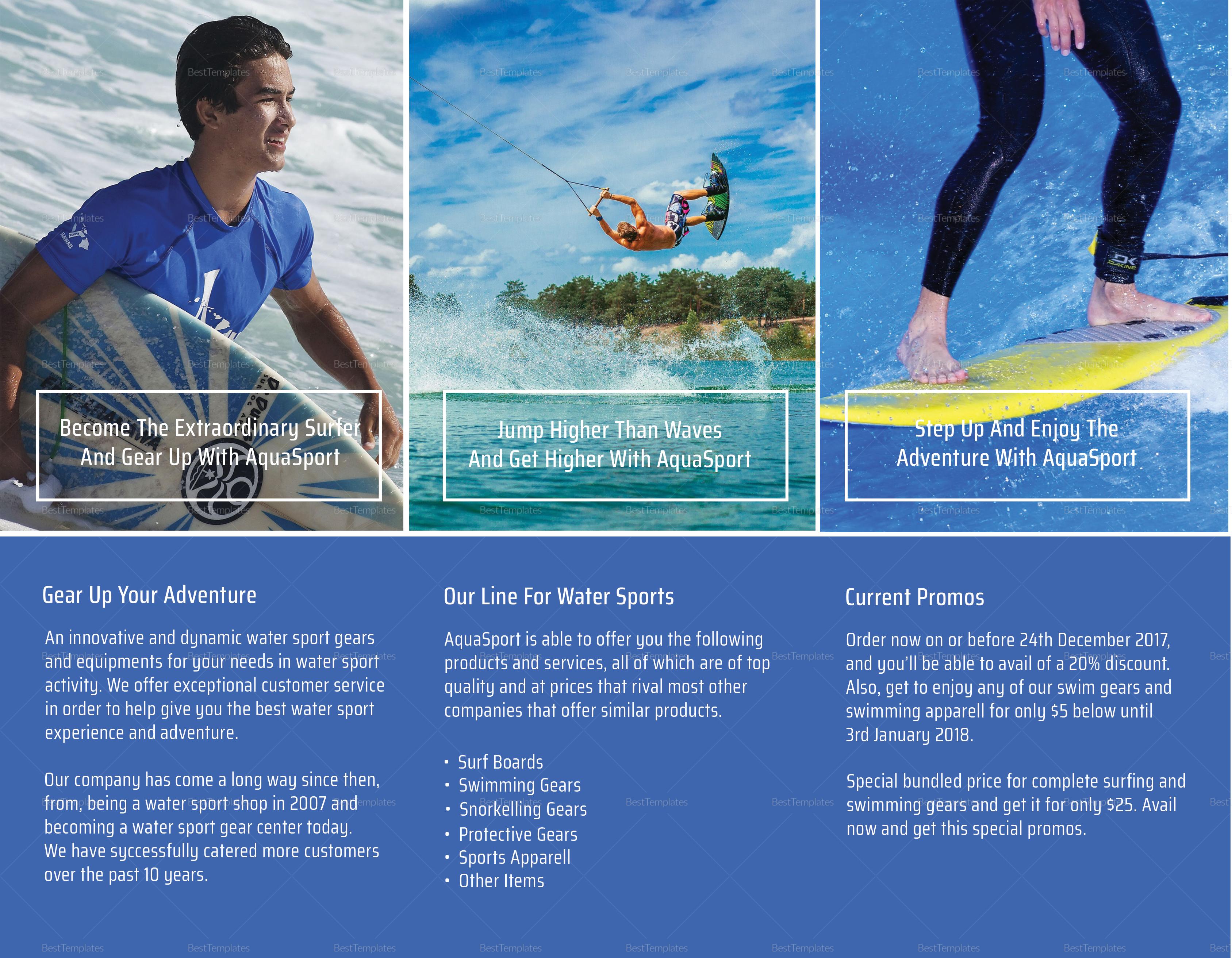 Blue Aqua Tri-fold Brochure