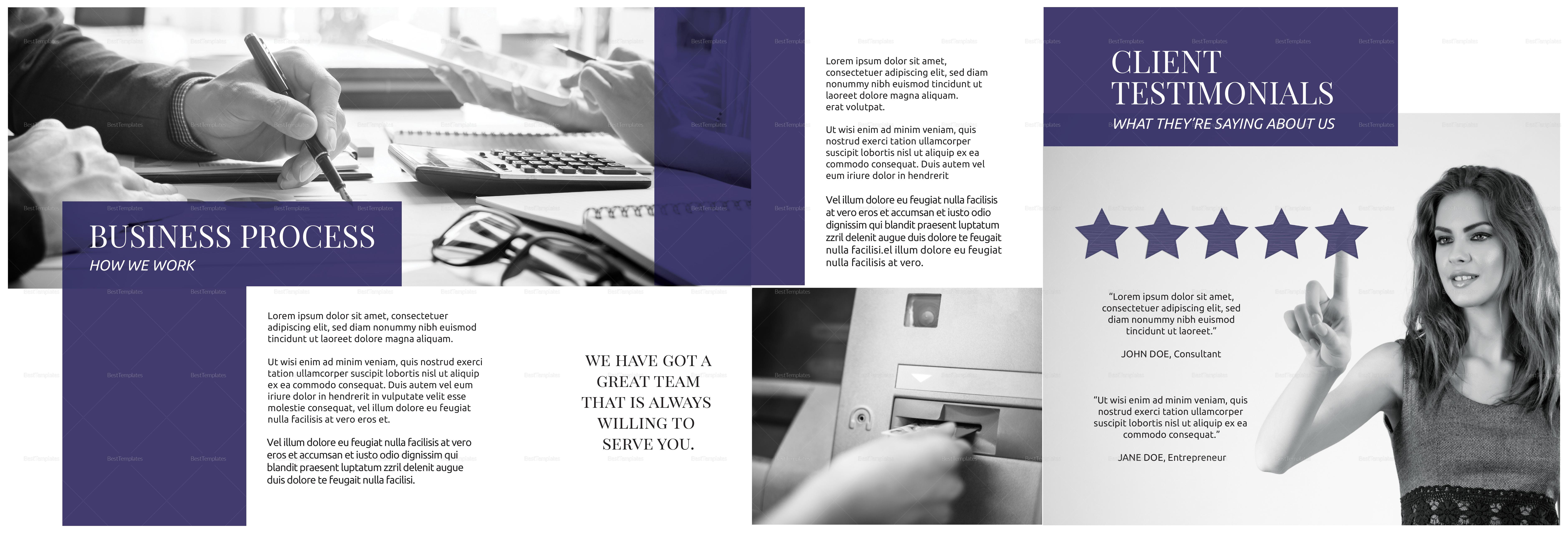 Sample Square Business Brochure