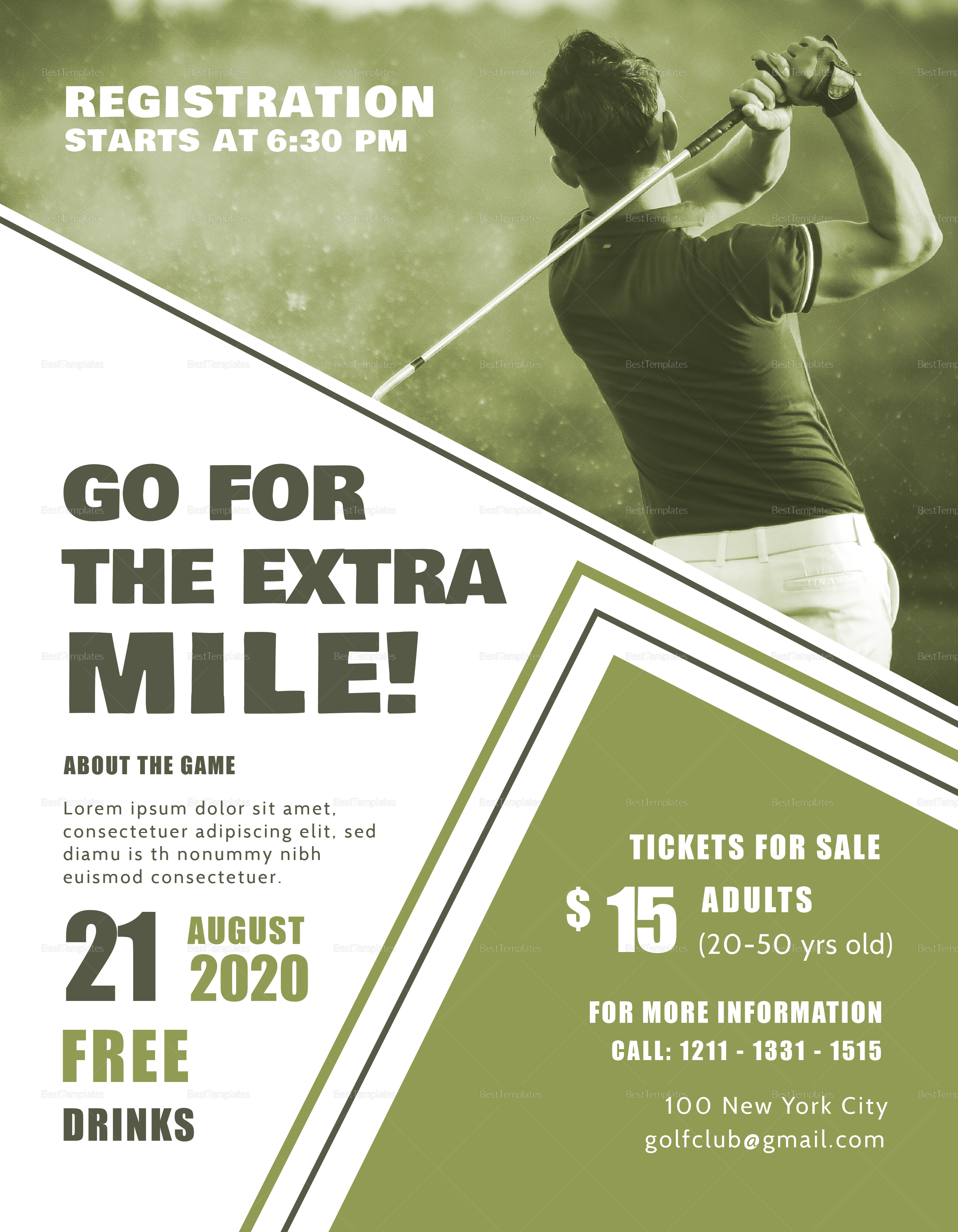 Simple Golf Club Event Flyer