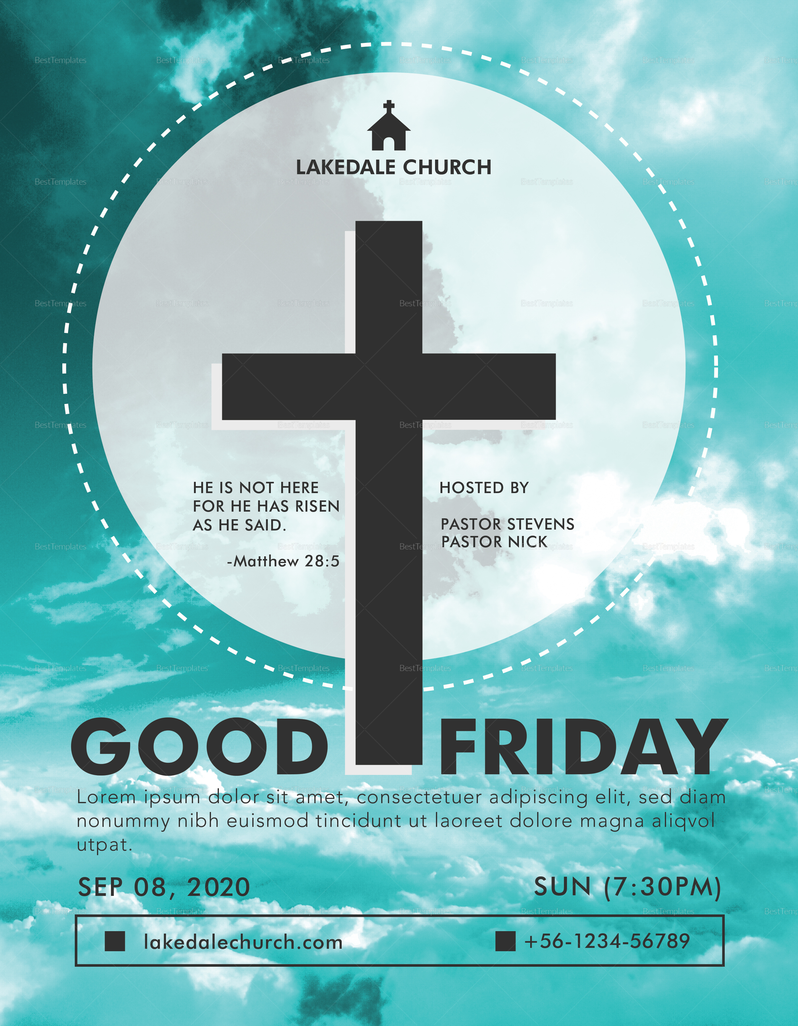 good friday flyer design template in psd  word  publisher  illustrator  indesign