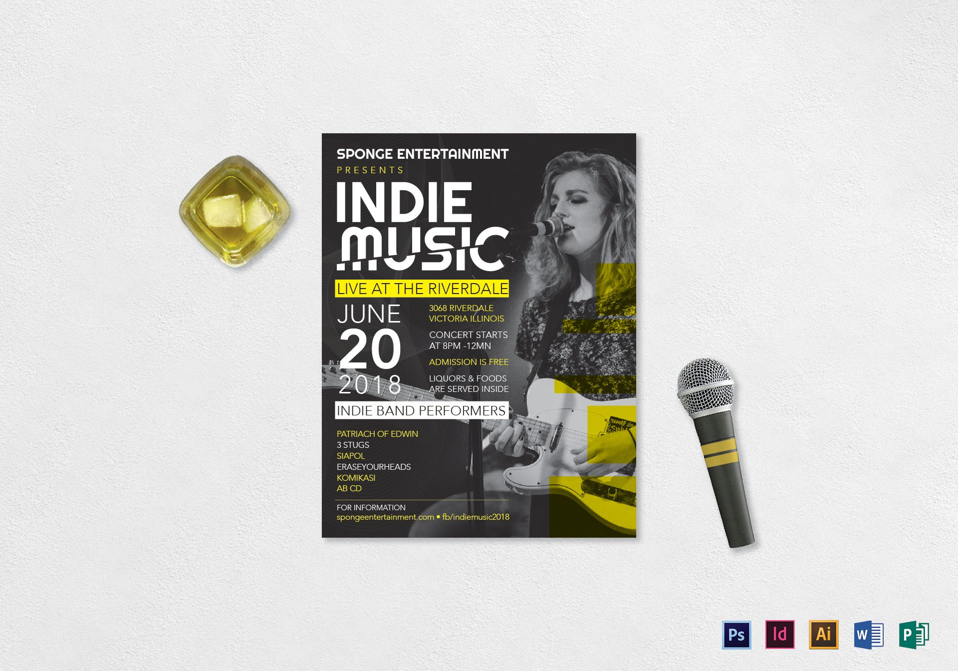 Indie Band Music Flyer