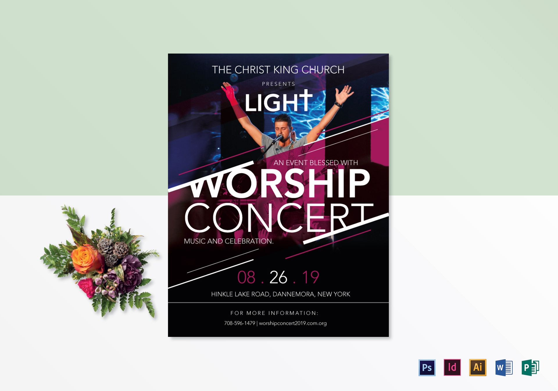 Church Worship Concert Flyer