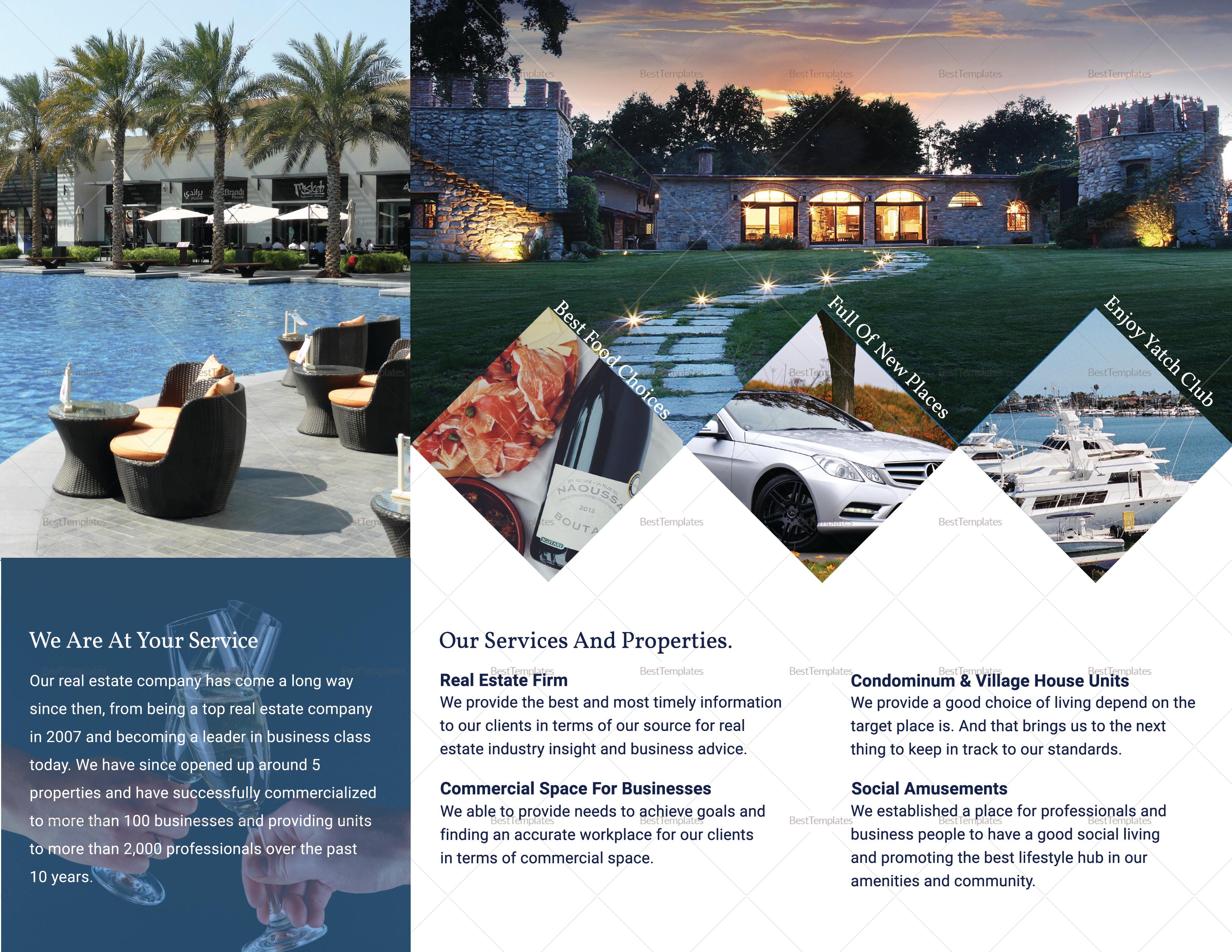 Sample Luxury brochure Tri-fold