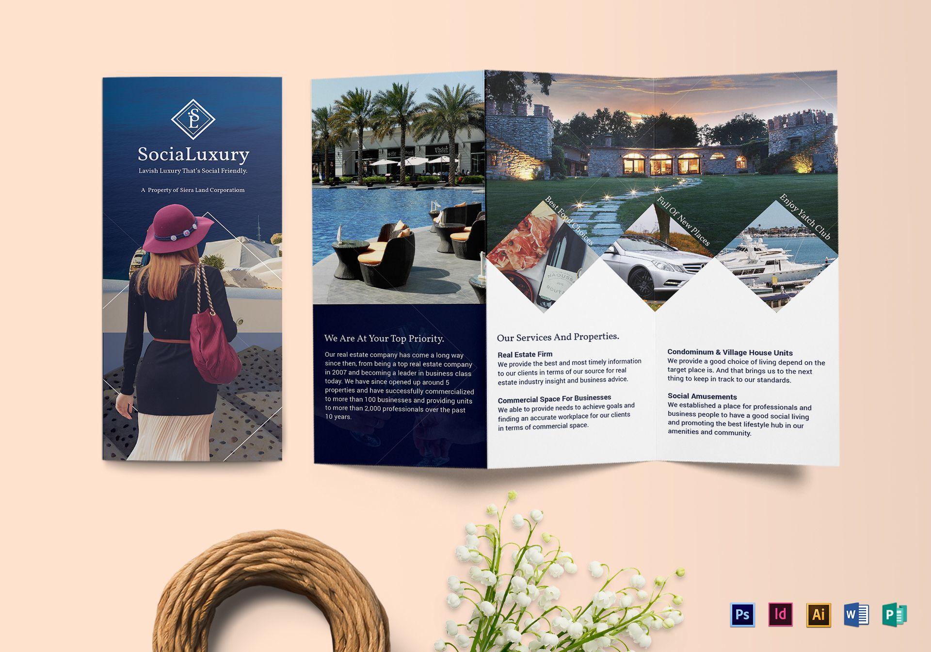 Luxury brochure Tri-fold
